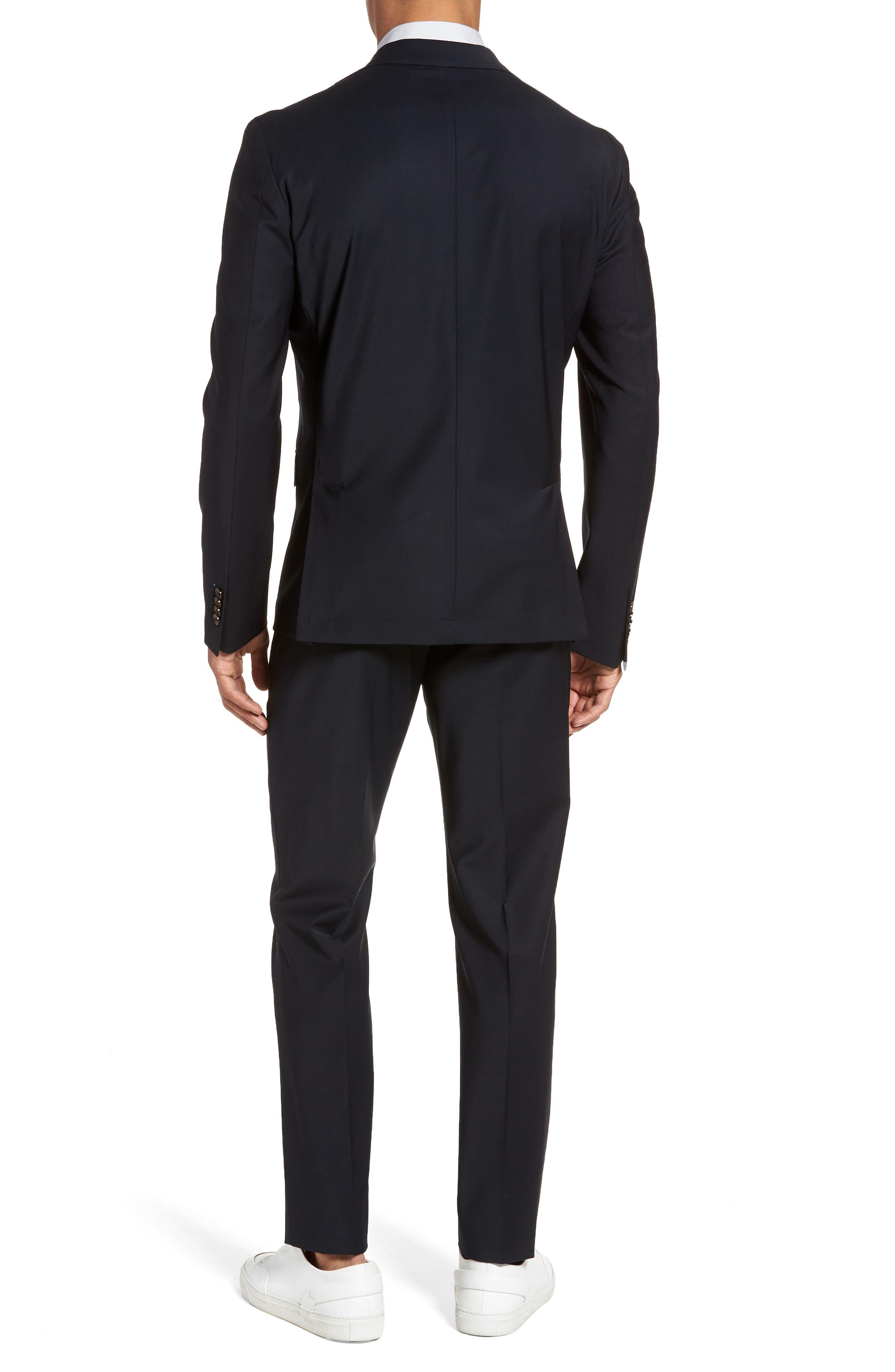 Trim Fit Stretch Wool Suit,                             Alternate thumbnail 4, color,