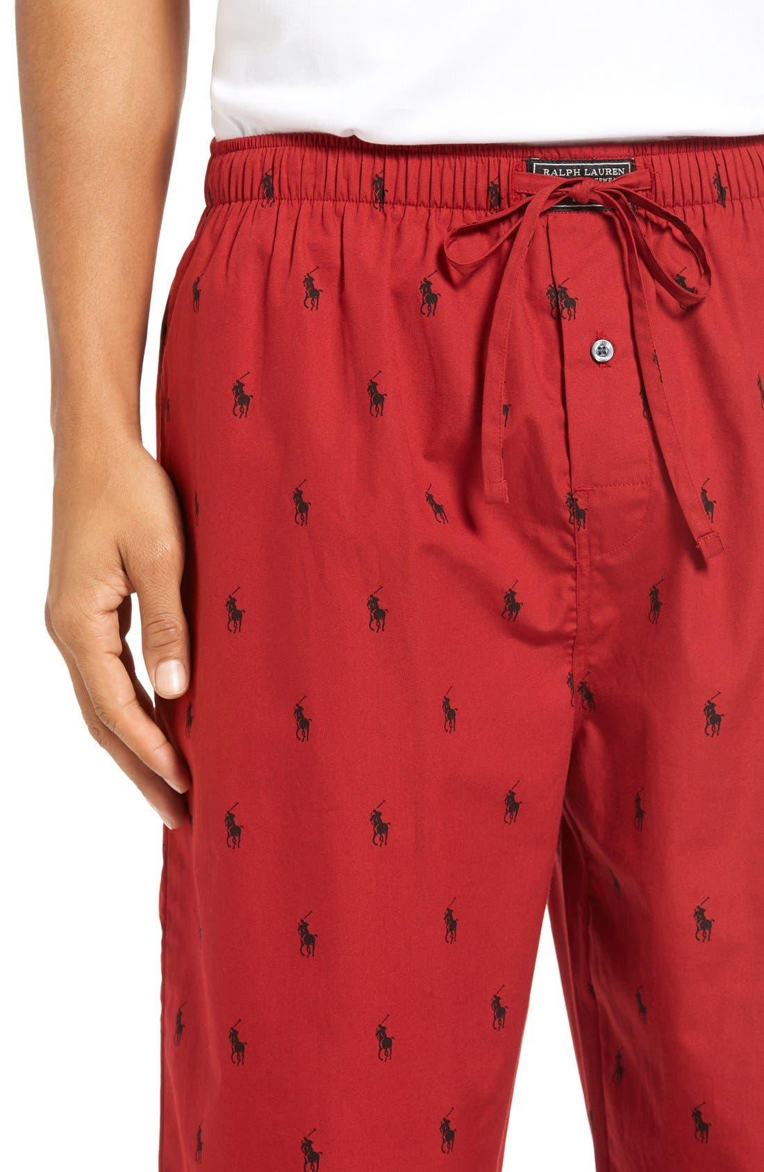 Cotton Lounge Pants,                             Alternate thumbnail 51, color,