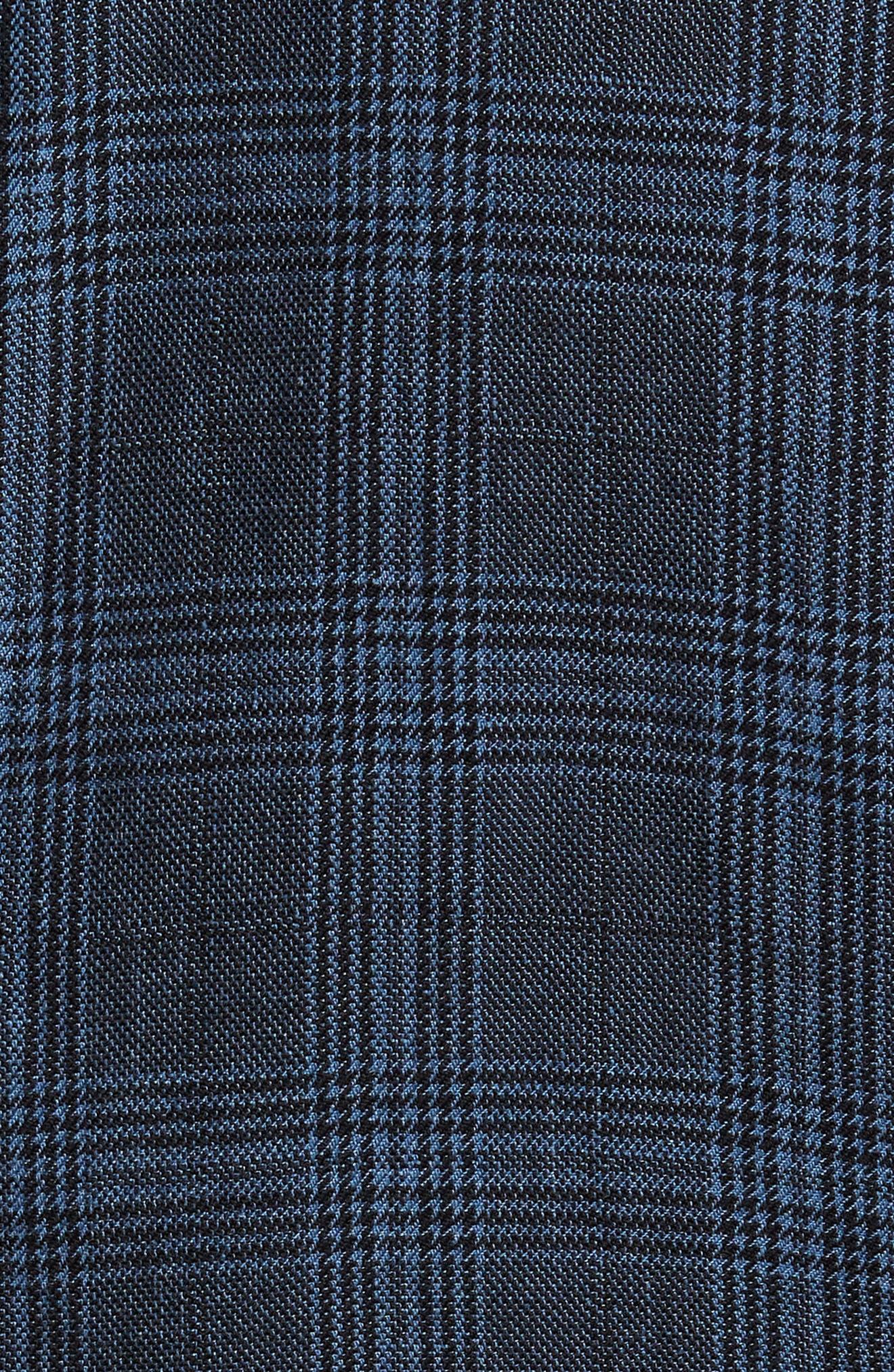Hanry-D Trim Fit Plaid Linen & Cotton Sport Coat,                             Alternate thumbnail 6, color,                             BLUE