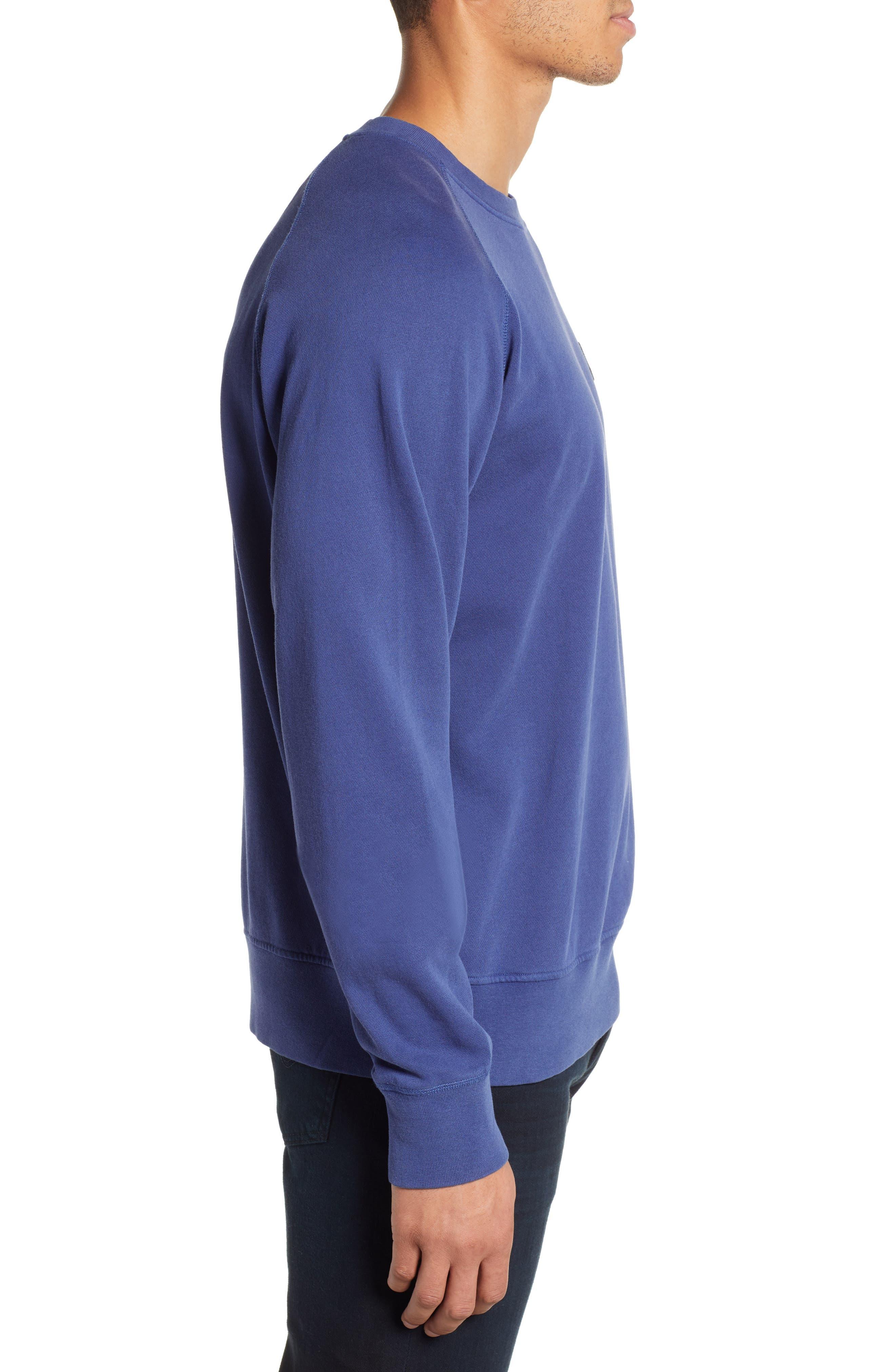 Dunham Crewneck Sweatshirt,                             Alternate thumbnail 3, color,                             BLUE PRINT