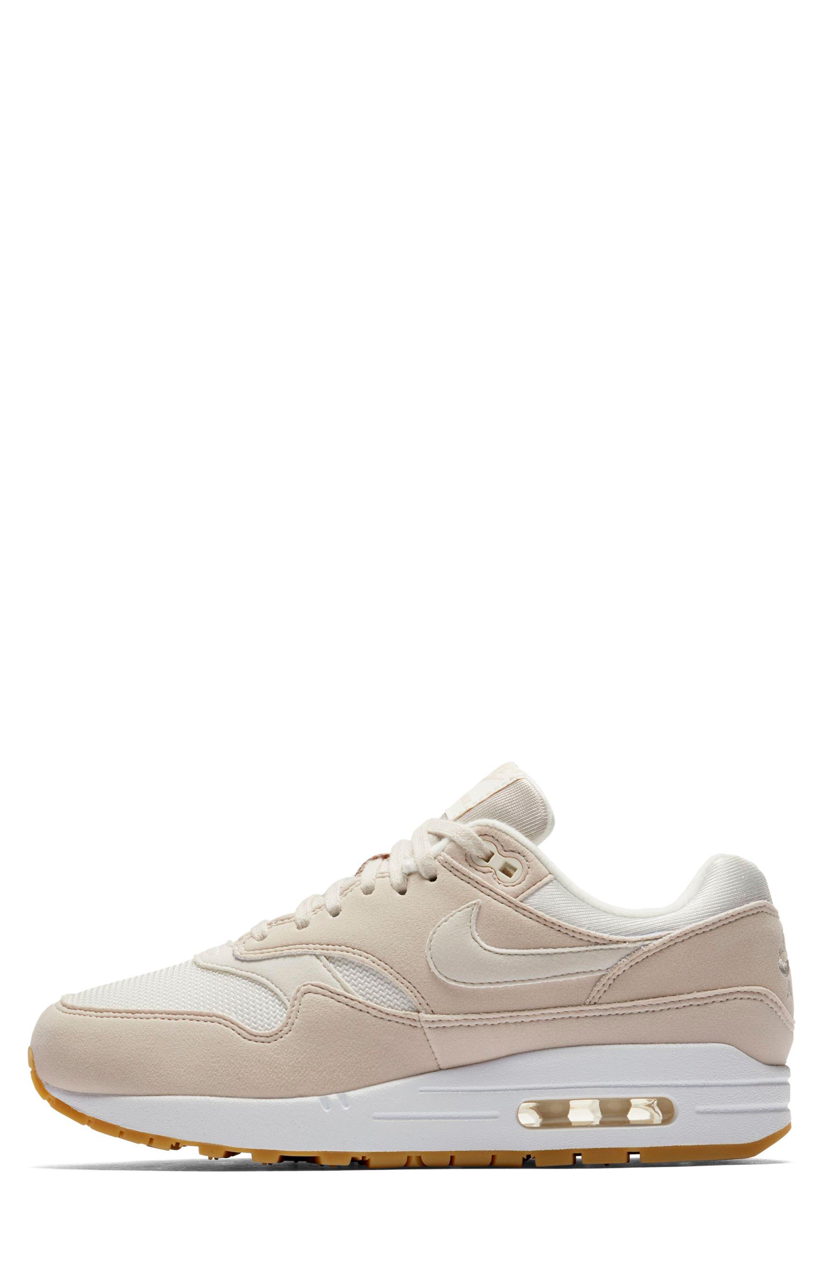 Air Max 1 Sneaker,                             Alternate thumbnail 3, color,                             DESERT SAND