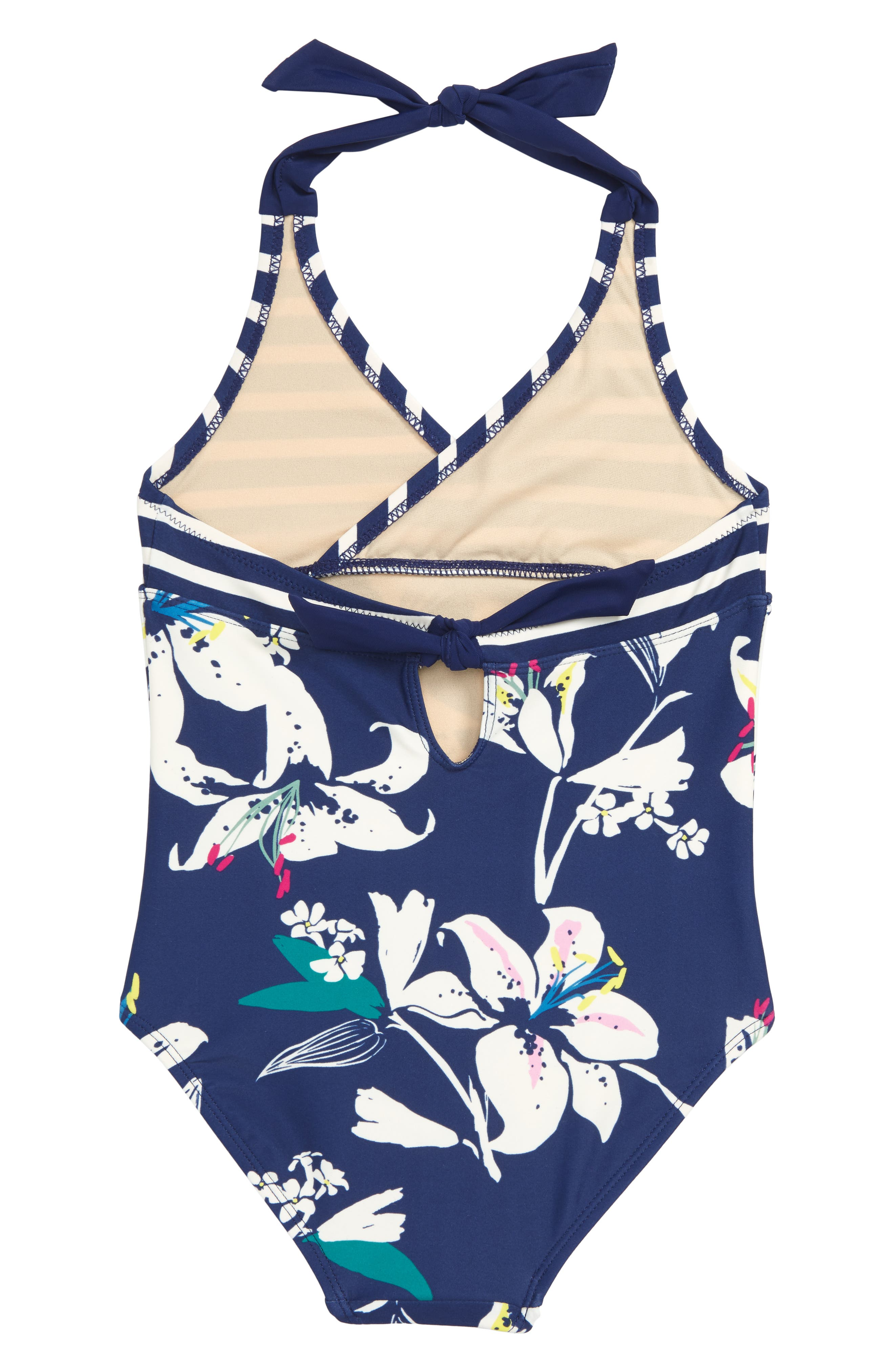 Tropical Lilies One-Piece Swimsuit,                             Alternate thumbnail 2, color,                             TROPICAL LILLIES