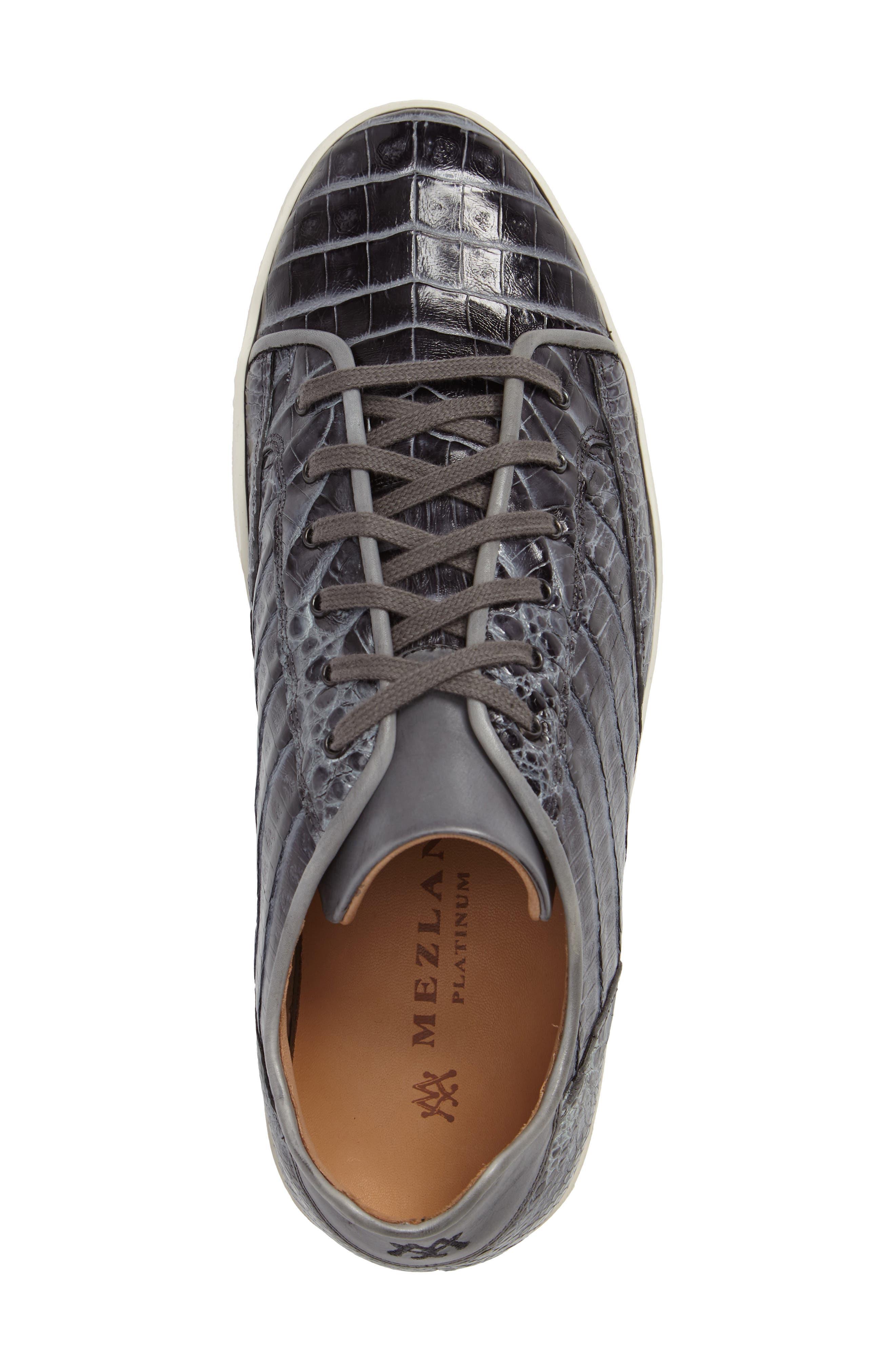 Hickman Genuine Crocodile Sneaker,                             Alternate thumbnail 3, color,                             020