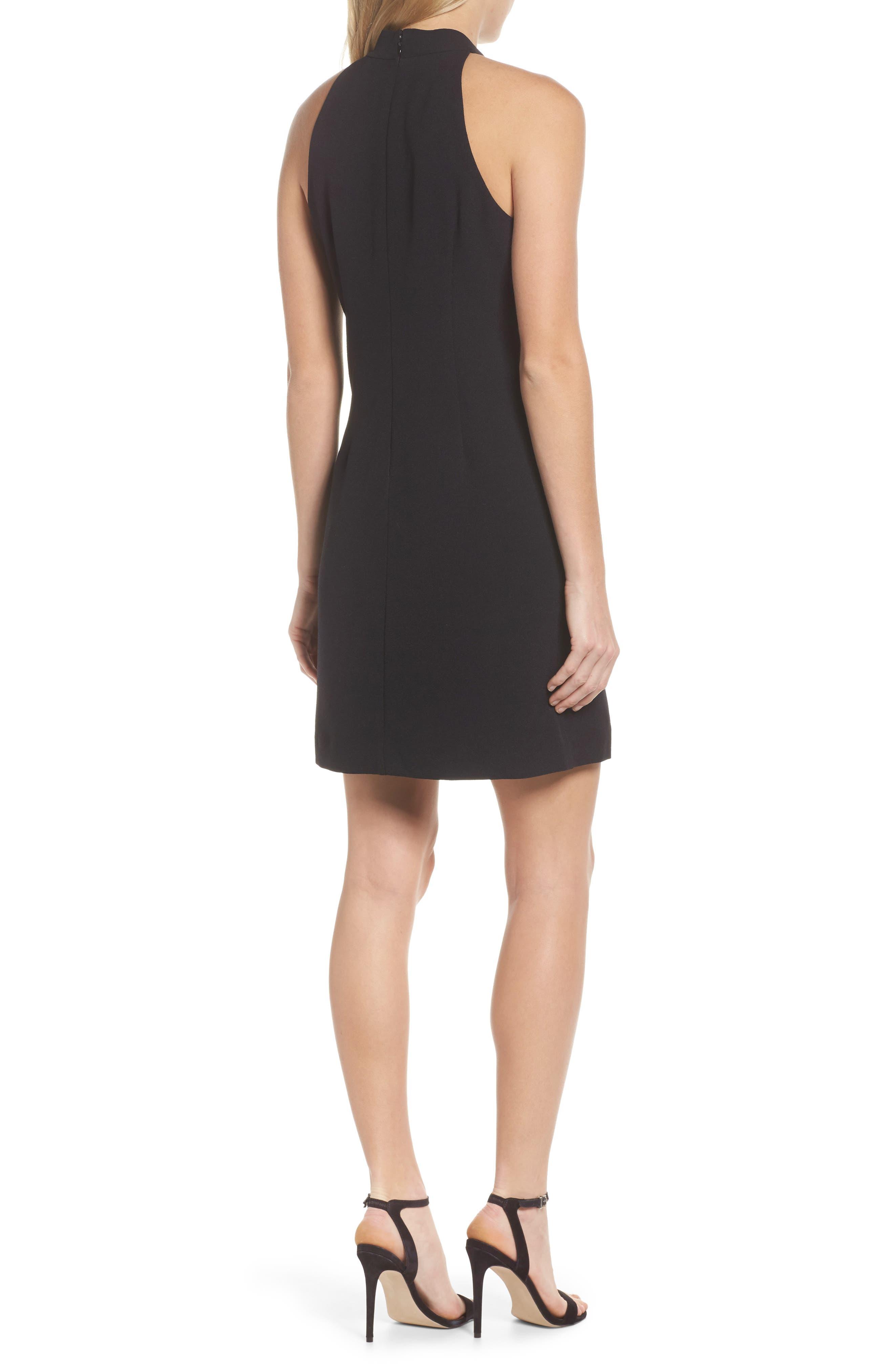 A-Line Dress,                             Alternate thumbnail 2, color,                             BLACK