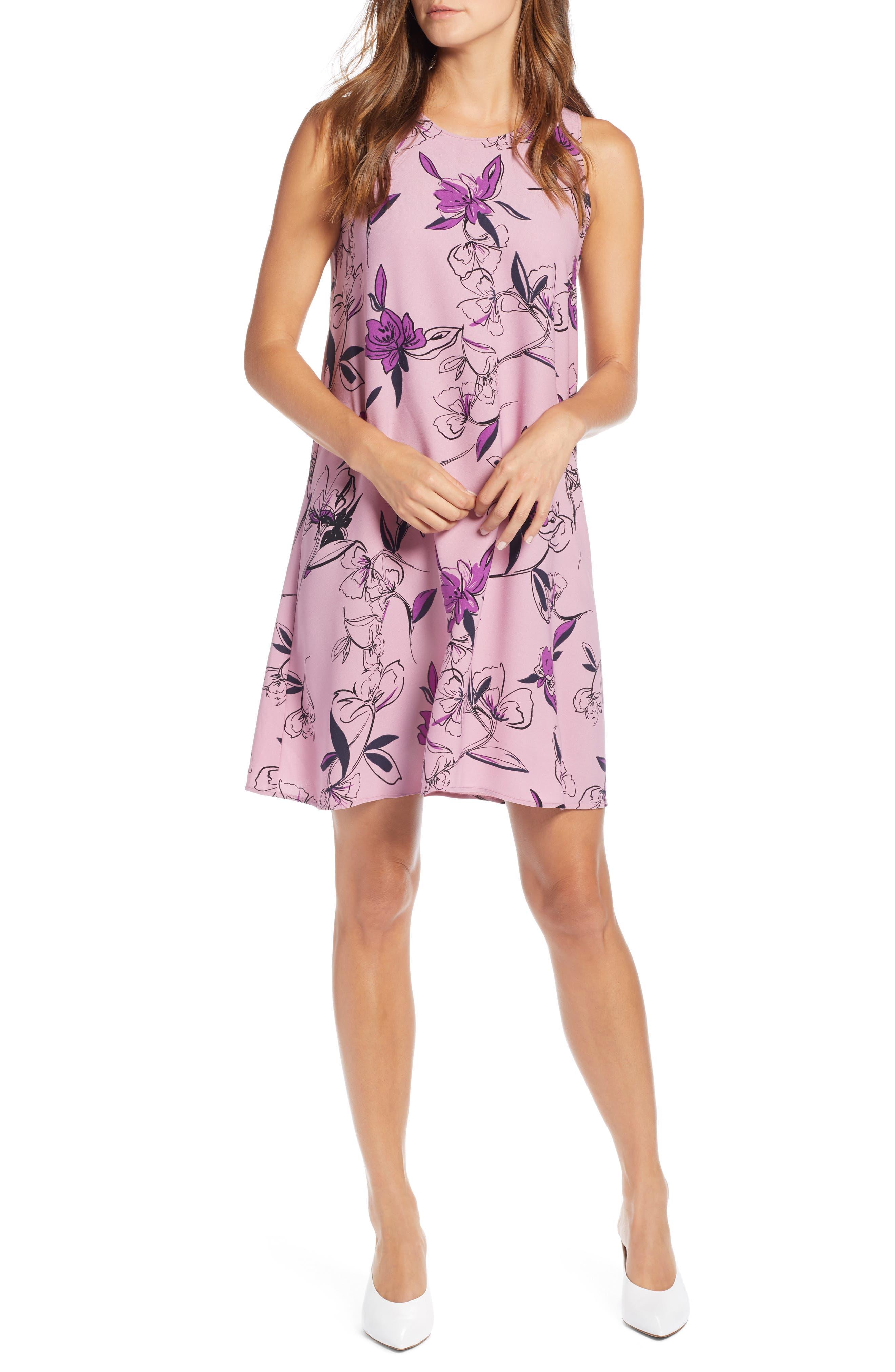 Halogen A-Line Dress, Purple