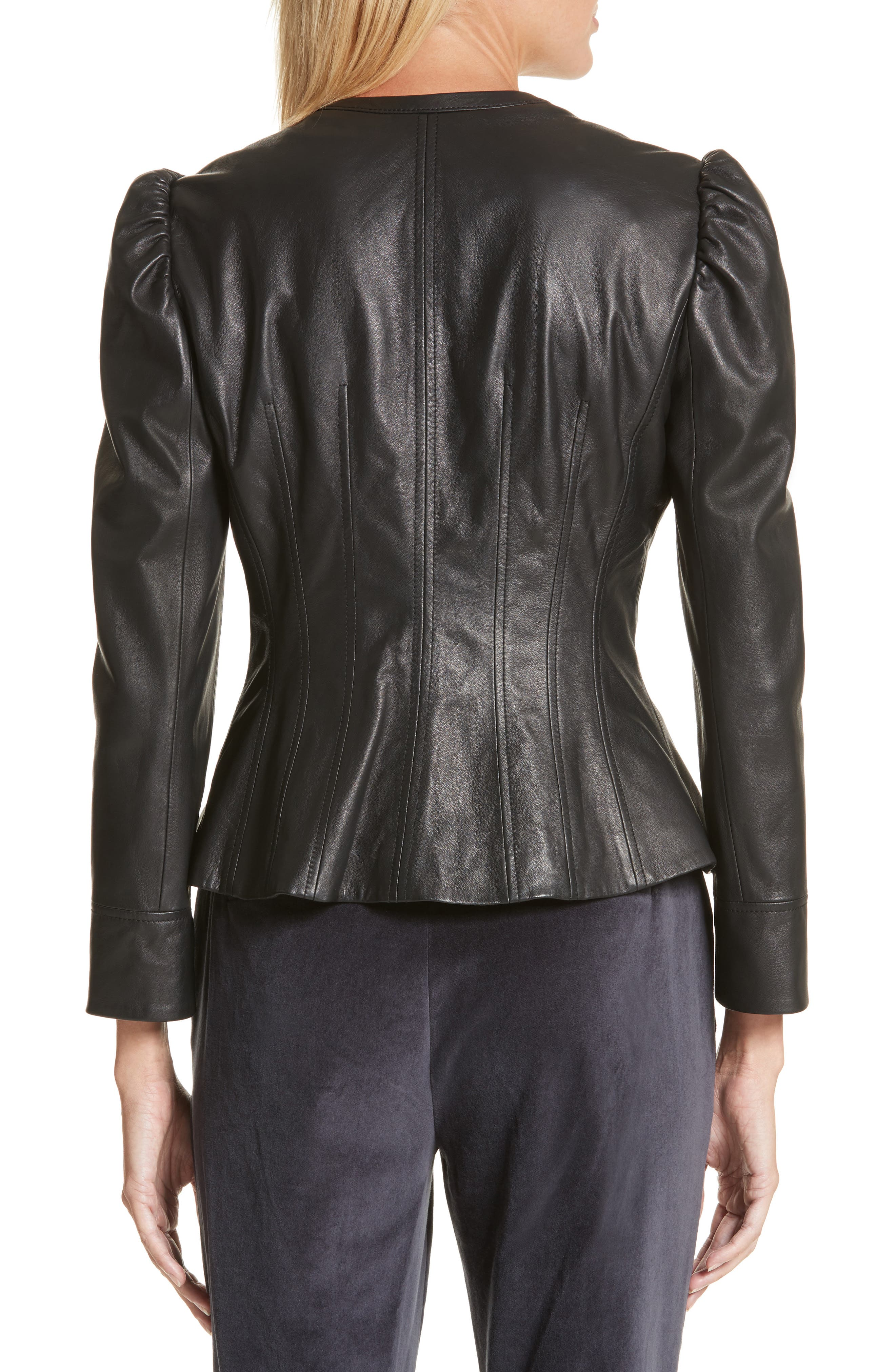 Victorian Leather Jacket,                             Alternate thumbnail 2, color,                             001