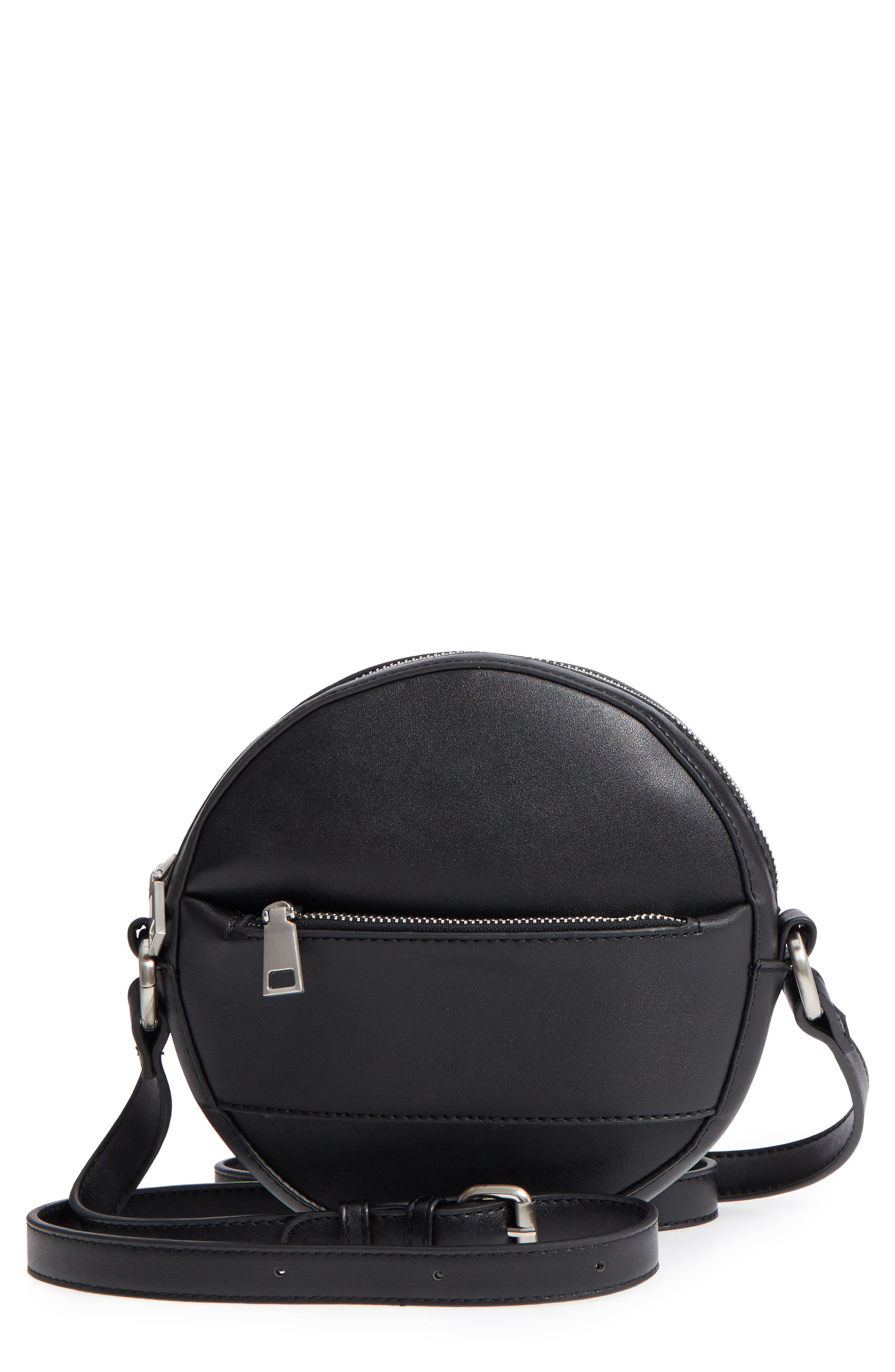 Faux Leather Canteen Crossbody Bag,                         Main,                         color, 001