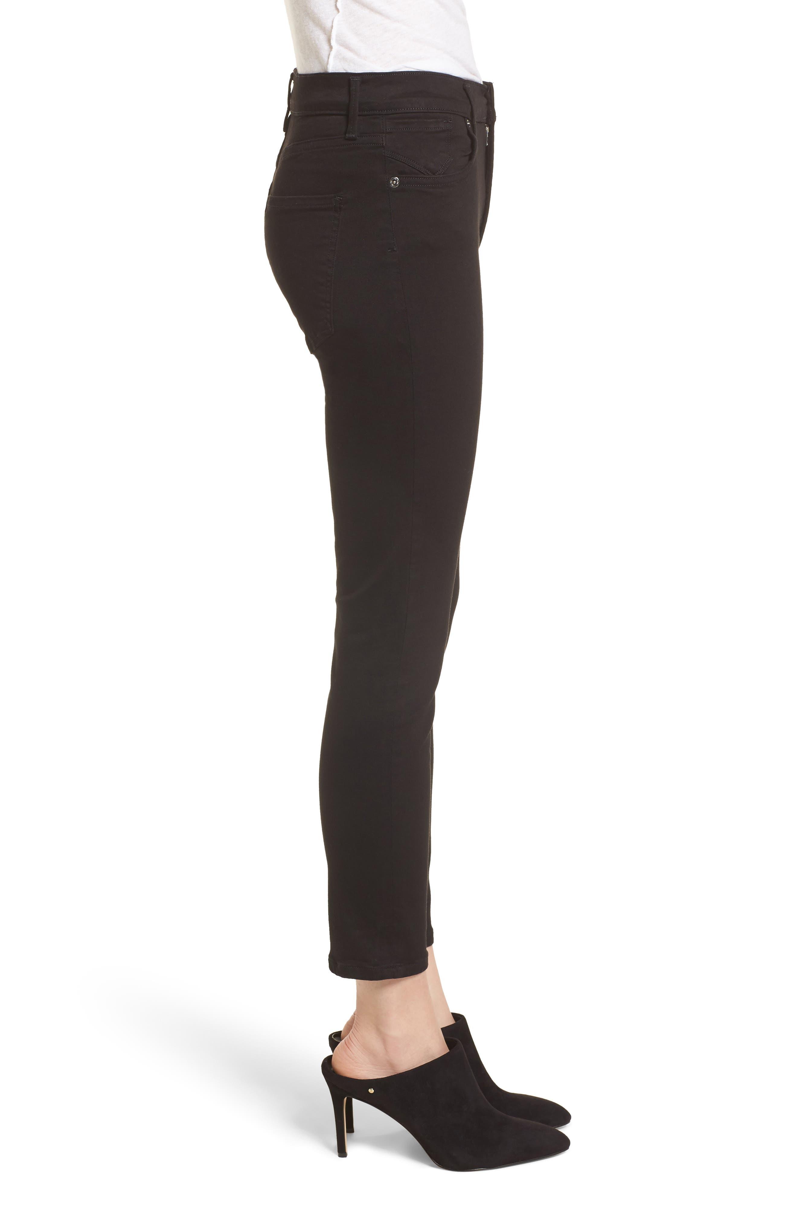 Sophie High Waist Crop Skinny Jeans,                             Alternate thumbnail 3, color,                             JET