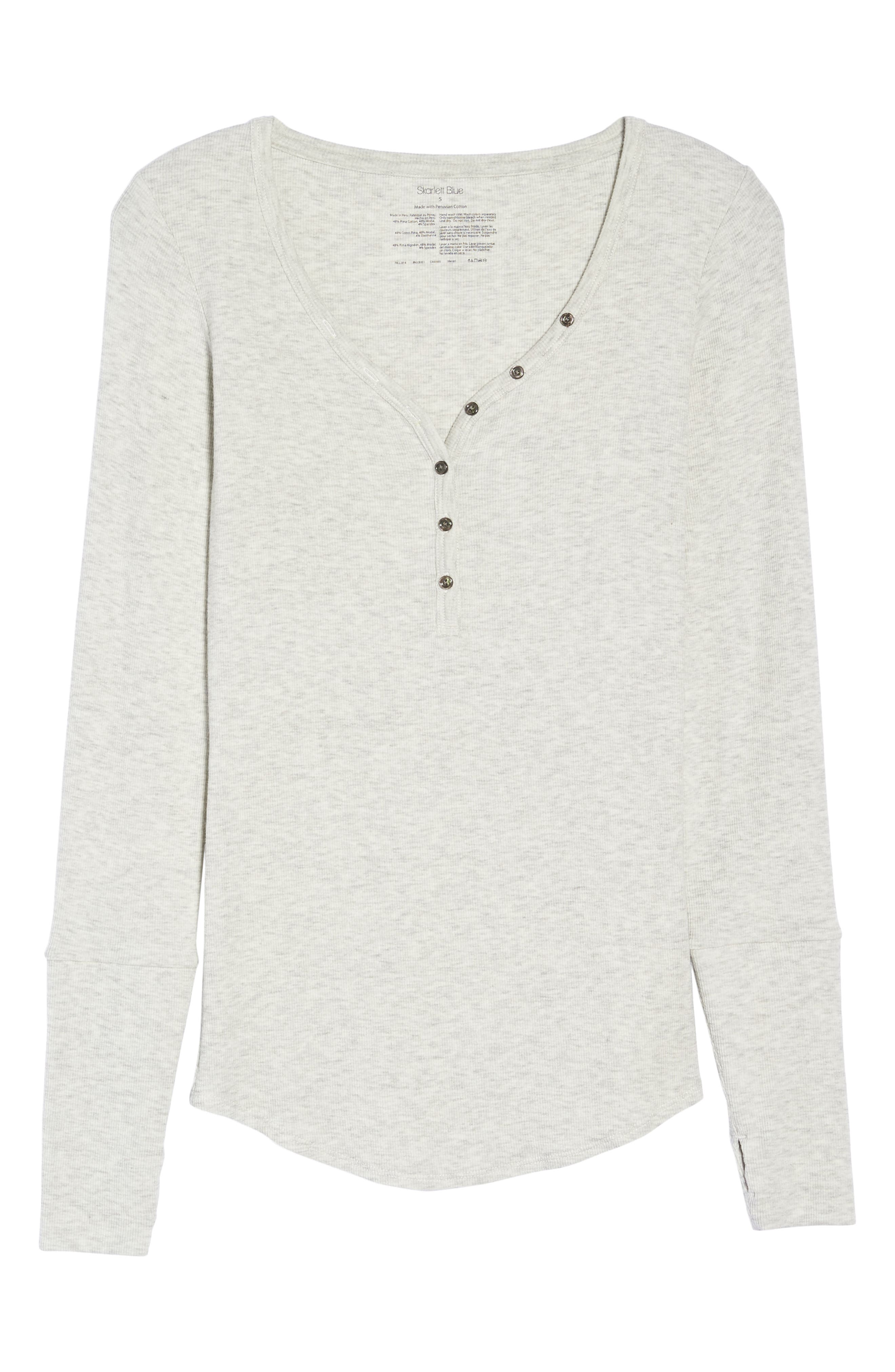 Daydream Long Sleeve Henley,                             Alternate thumbnail 6, color,                             061