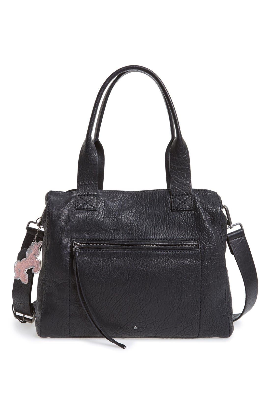 TOPSHOP,                             Glitter Unicorn Bag Charm,                             Alternate thumbnail 2, color,                             040