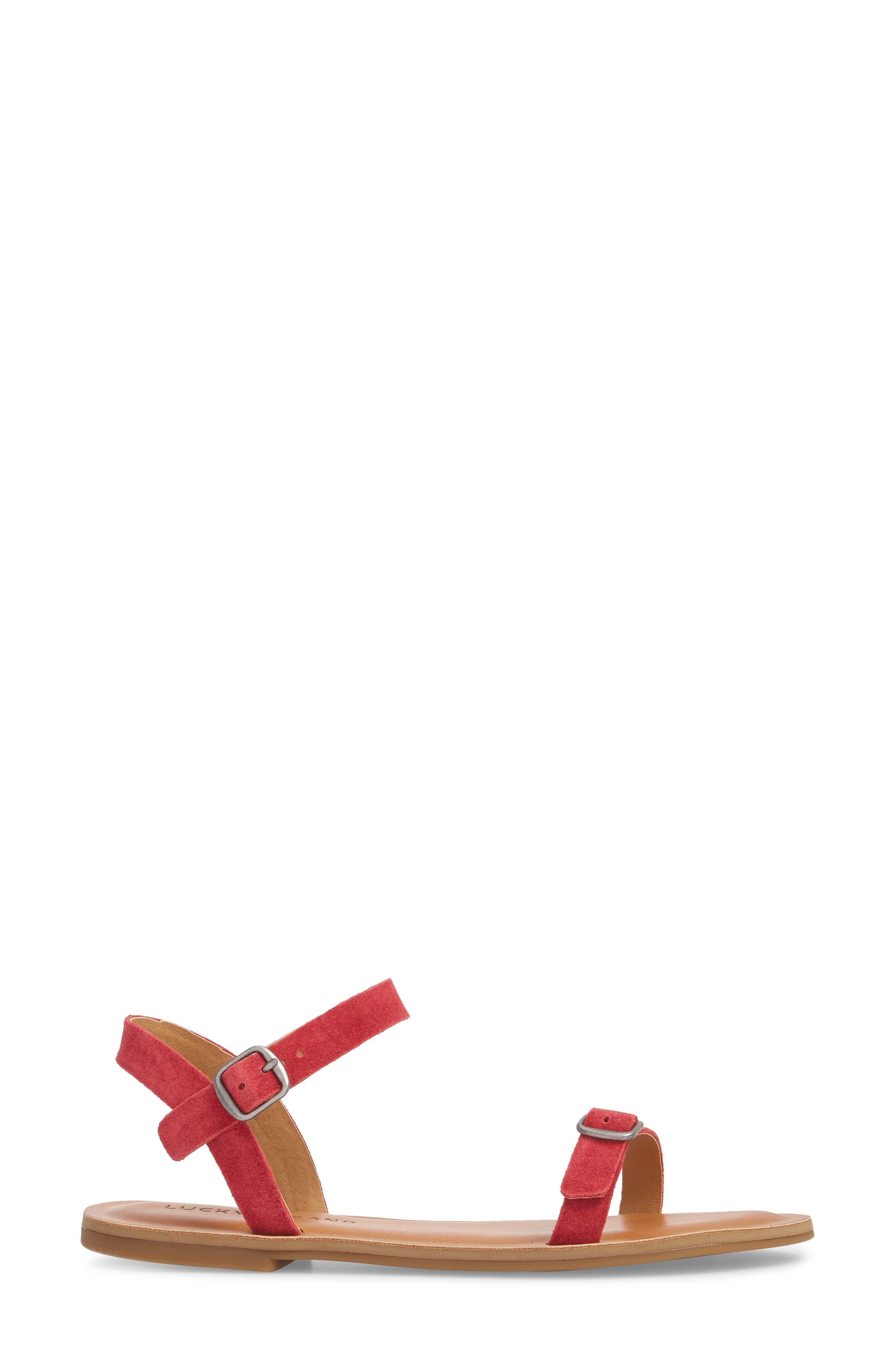 Adymaris Sandal,                             Alternate thumbnail 3, color,                             SB RED SUEDE