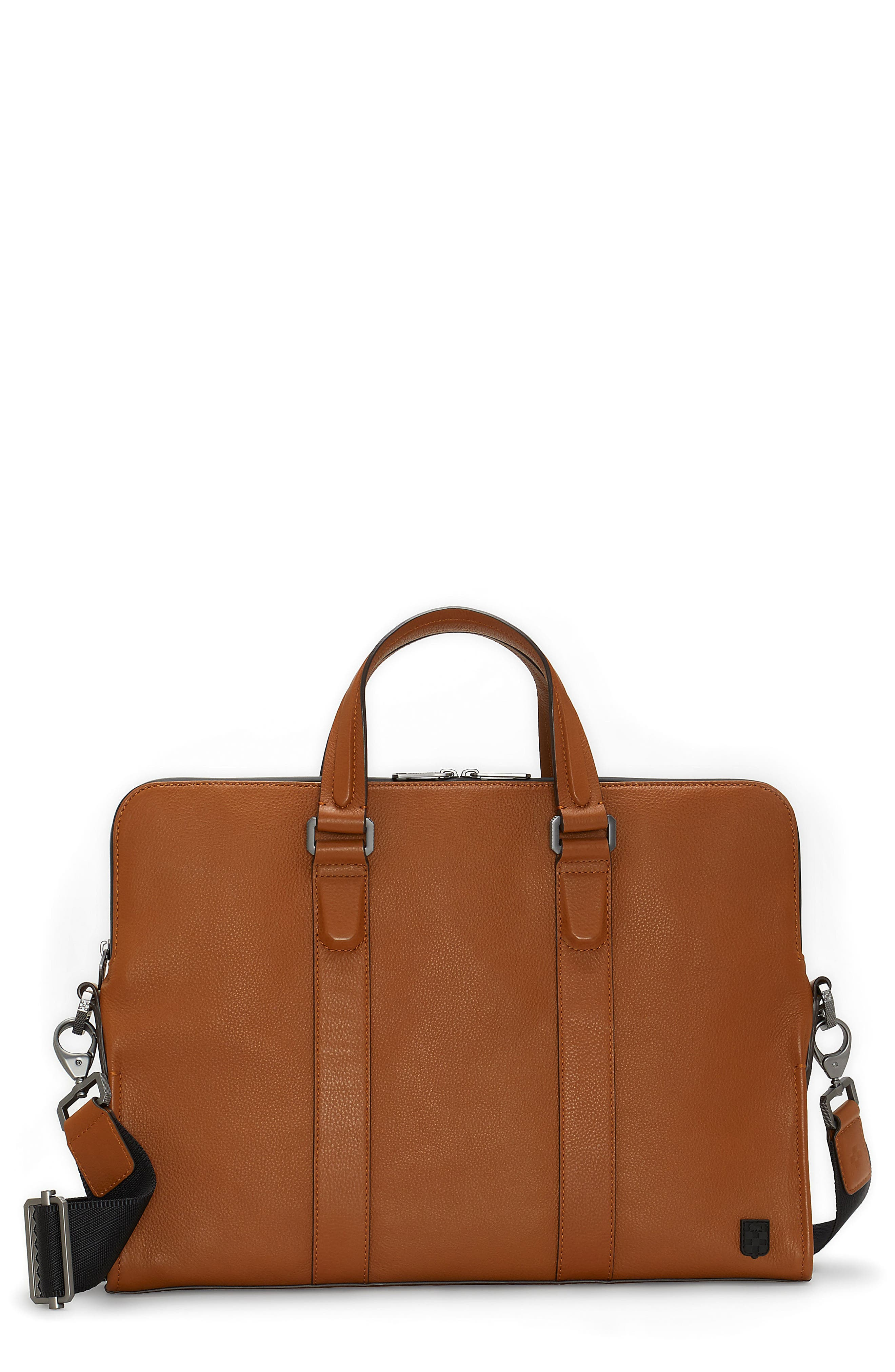 Dopia Leather Briefcase,                             Main thumbnail 1, color,                             201