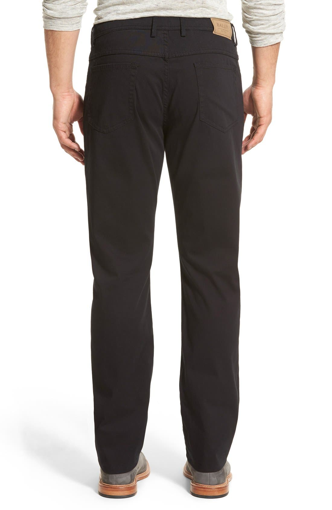 Crescent Pima Cotton Pants,                             Alternate thumbnail 2, color,                             001