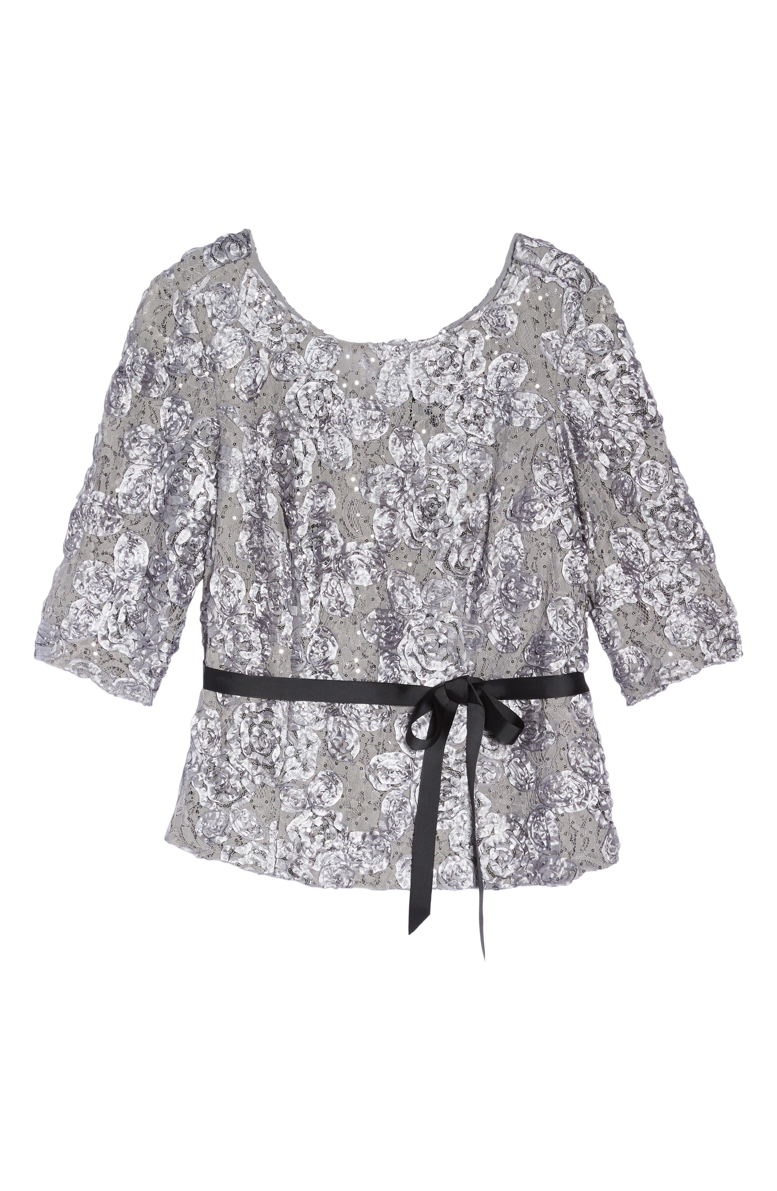 Rosette Lace Blouse,                             Alternate thumbnail 6, color,                             040