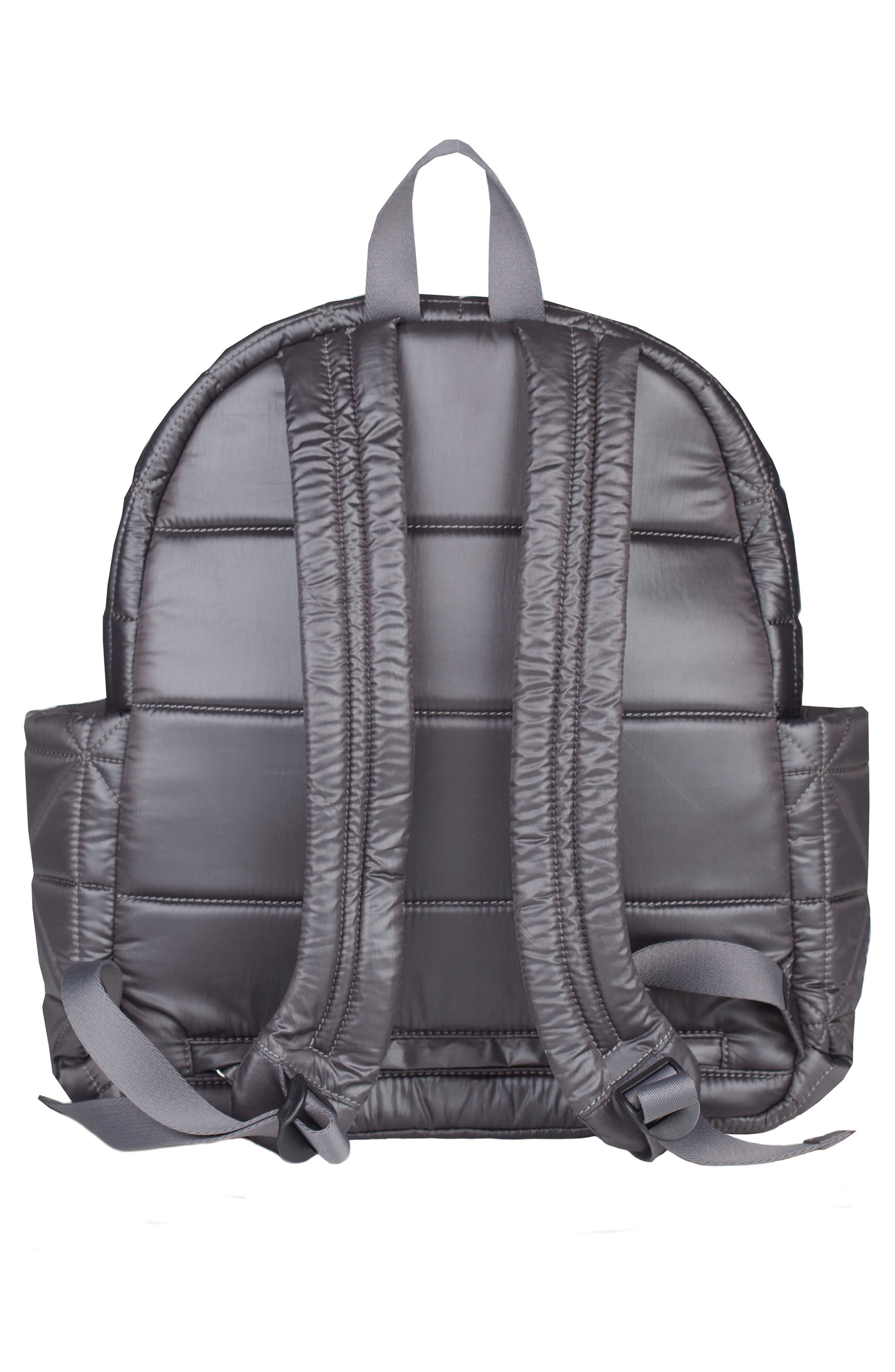 Companion Quilted Nylon Diaper Backpack,                             Alternate thumbnail 2, color,                             PLATINUM