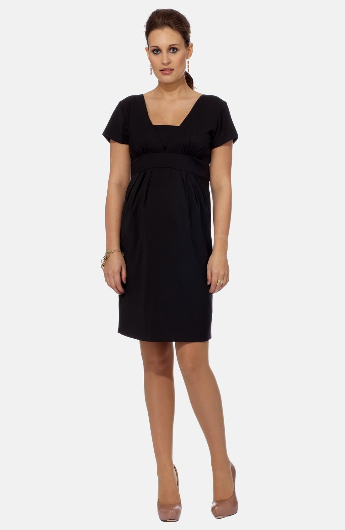 EVA ALEXANDER London Tailored Maternity Dress, Main, color, 001