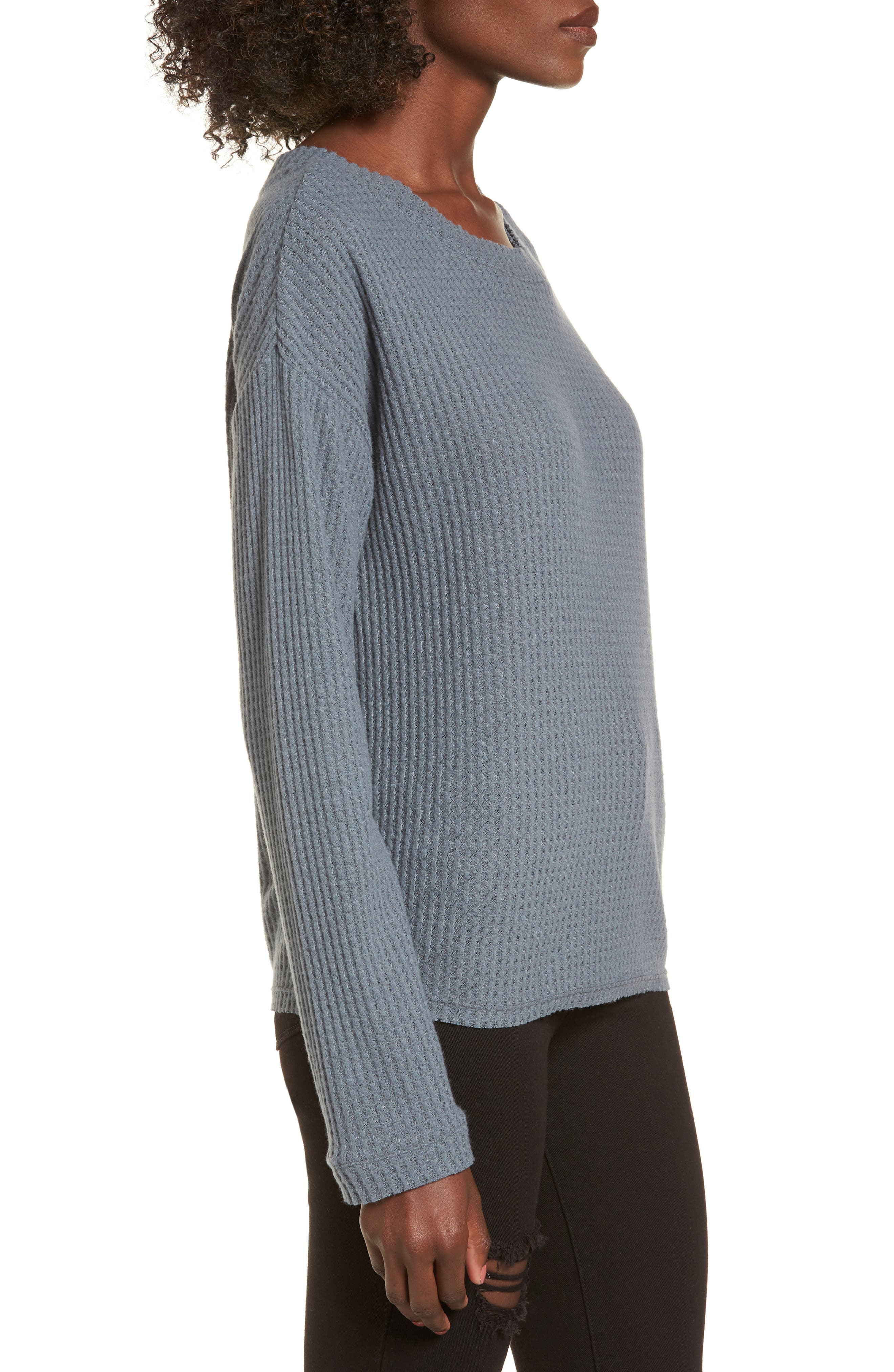 Waffle Knit Top,                             Alternate thumbnail 10, color,