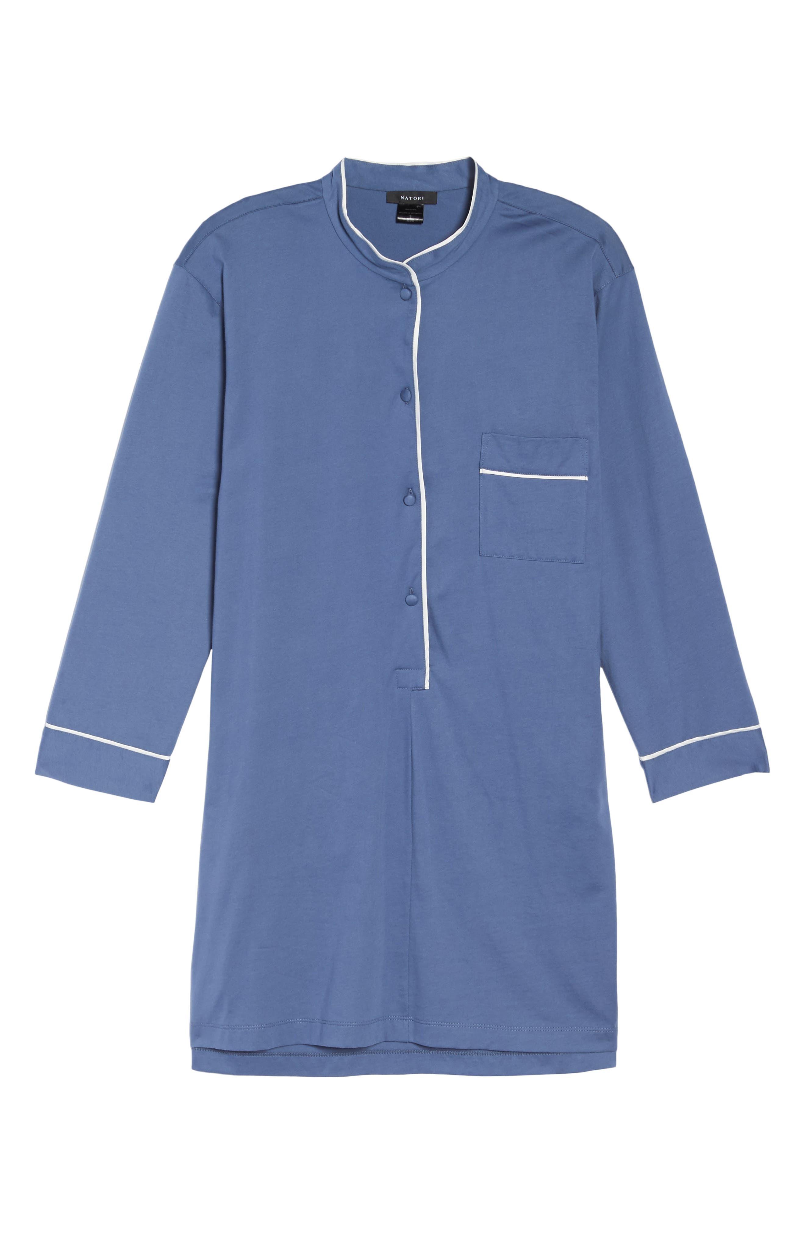 Bliss Supima<sup>®</sup> Cotton Sleep Shirt,                             Alternate thumbnail 6, color,