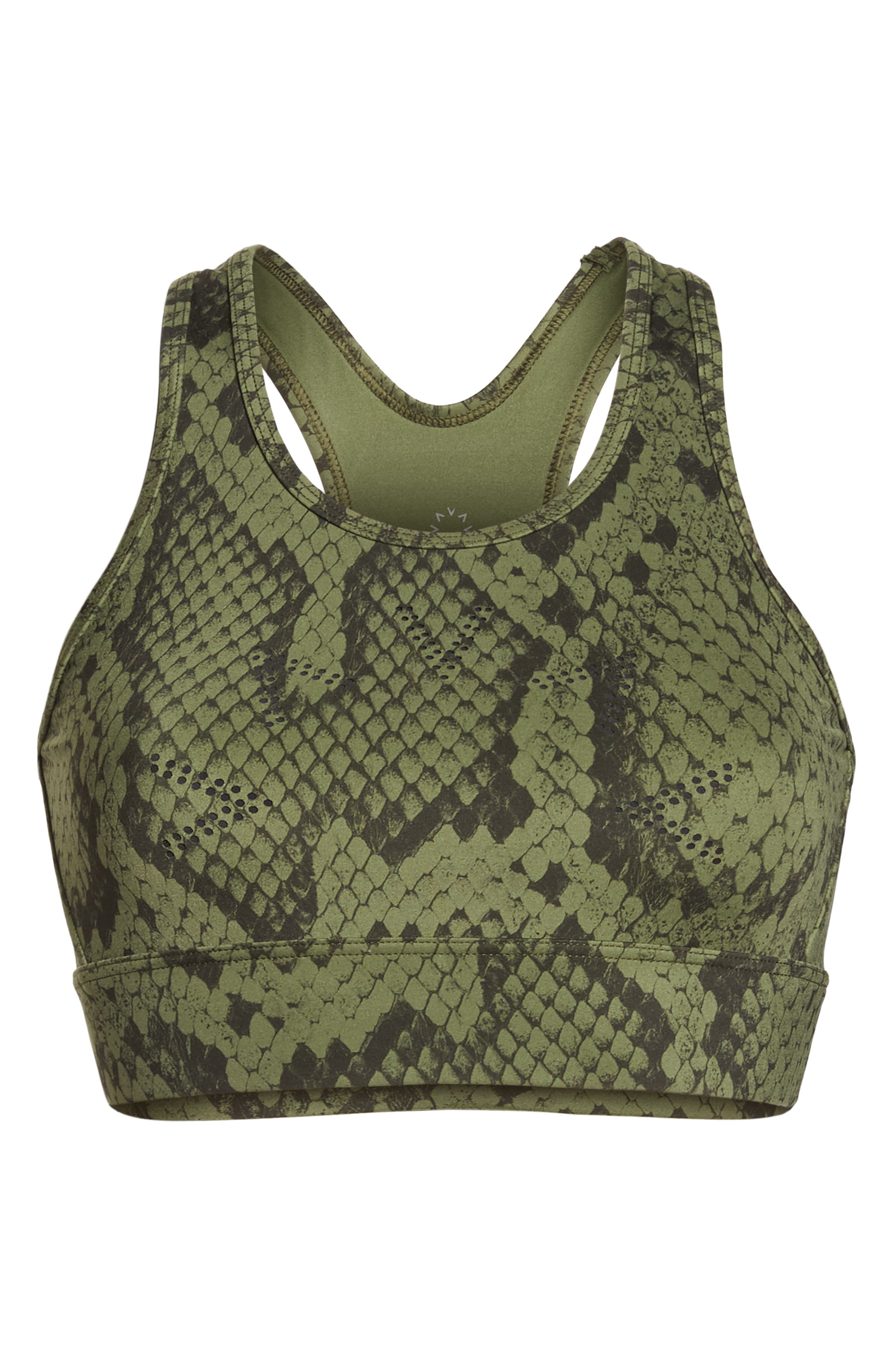 Berkeley Sports Bra,                             Alternate thumbnail 7, color,                             OLIVE SNAKE