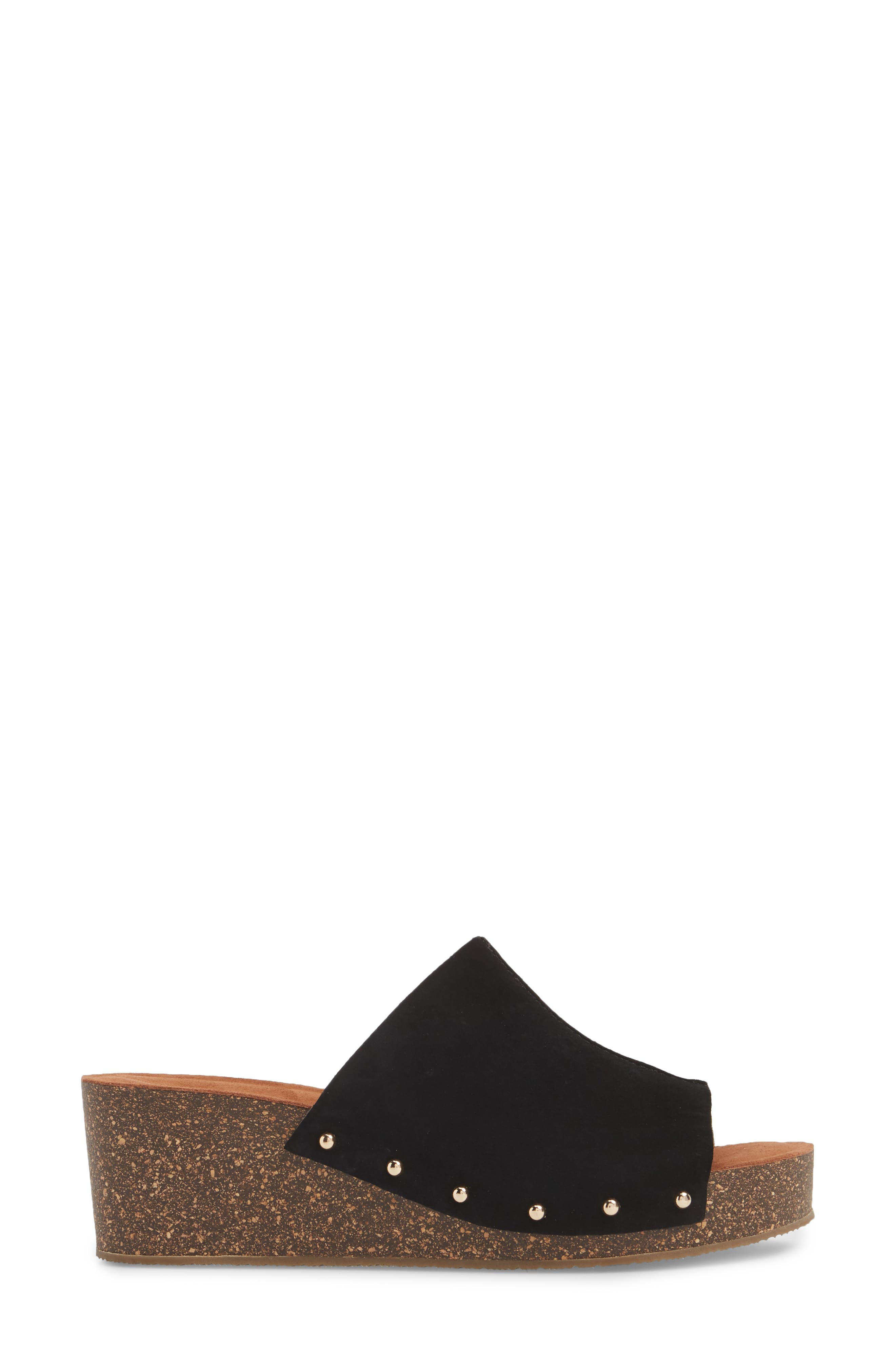 Pavia Wedge Mule,                             Alternate thumbnail 3, color,                             001