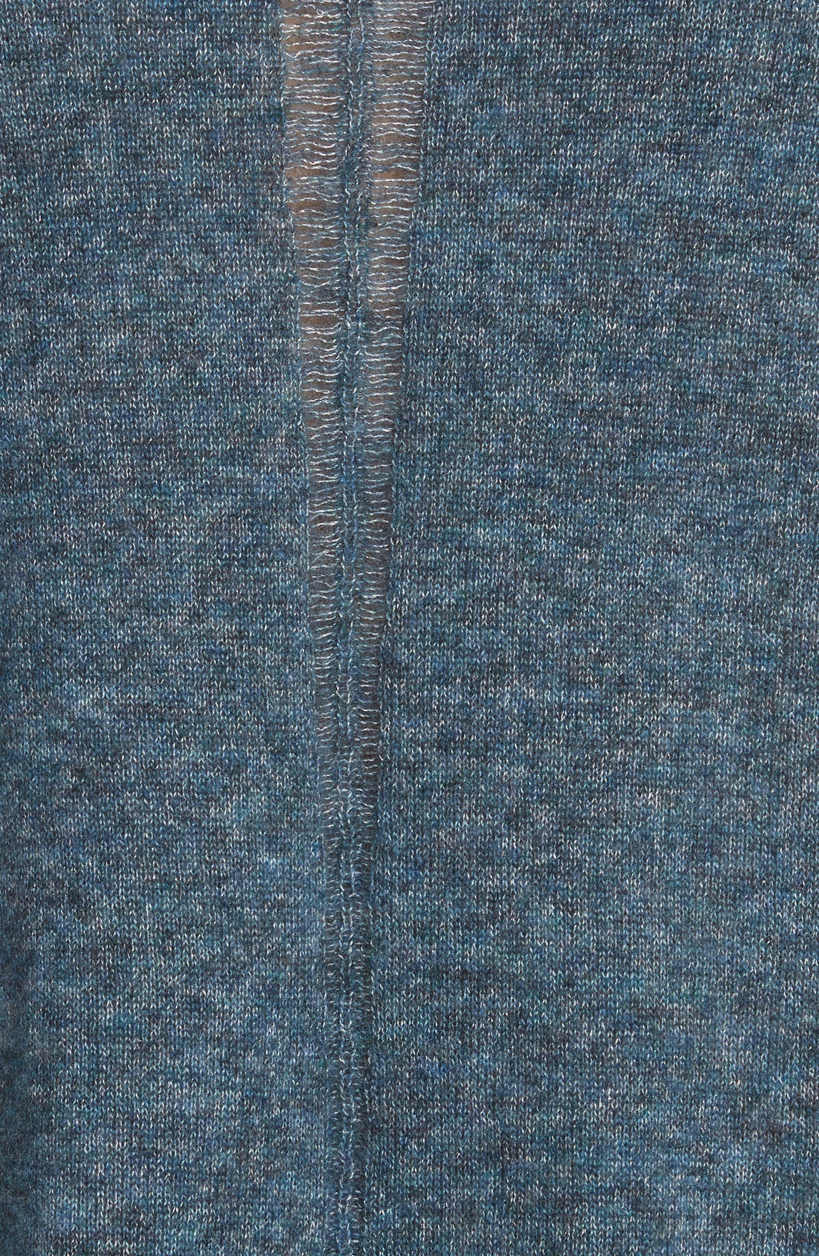 Boxy Ladder Stitch Cashmere & Silk Sweater,                             Alternate thumbnail 5, color,                             256