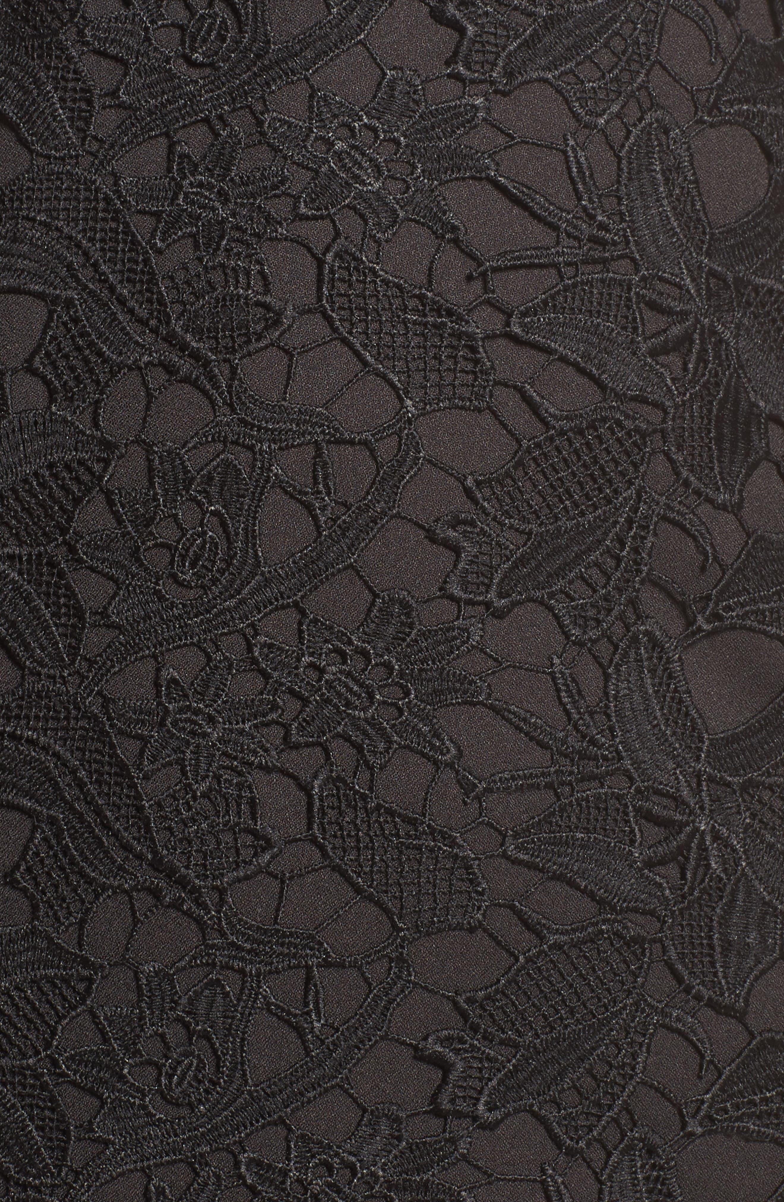 Lace Asymmetrical Dress,                             Alternate thumbnail 5, color,                             001