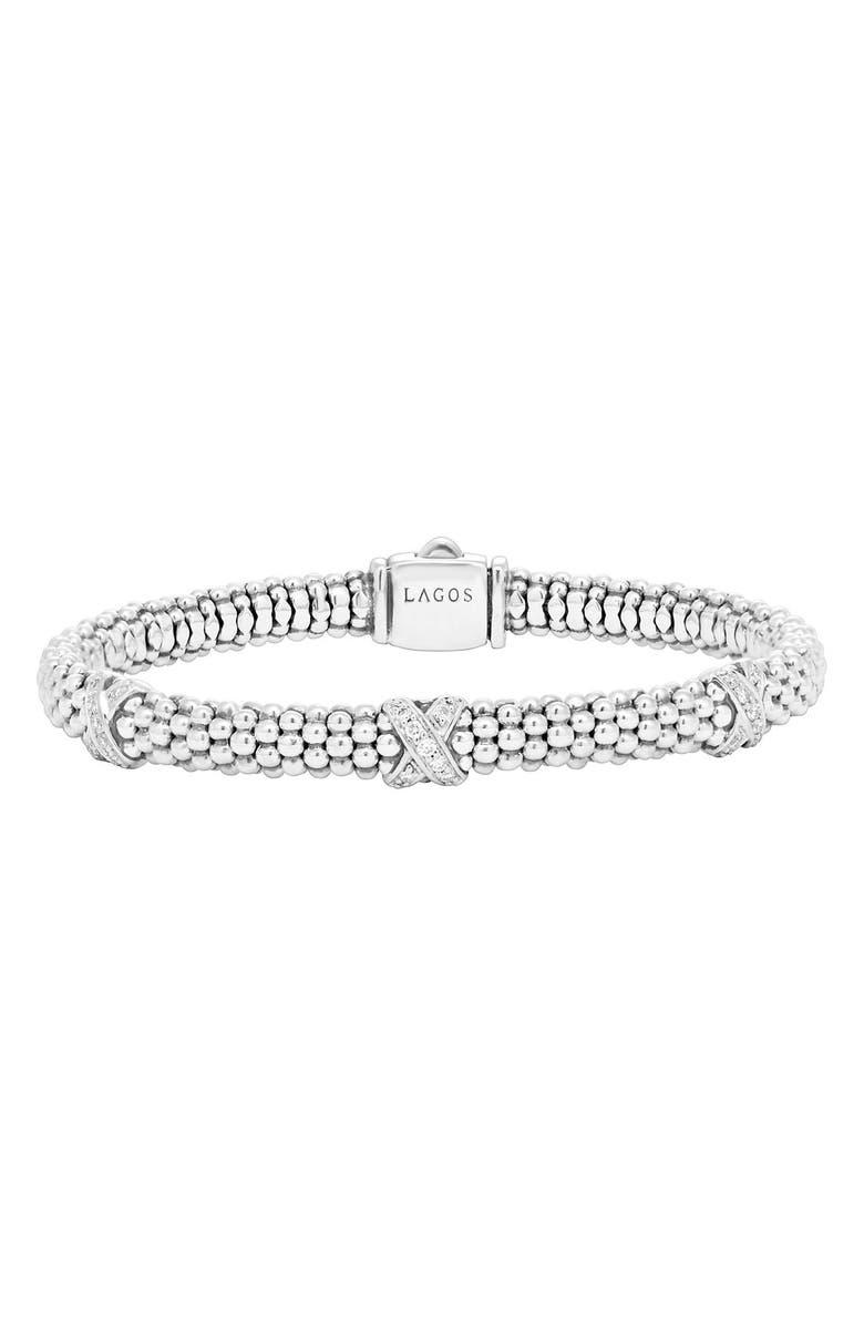 Signature Caviar Diamond Rope Bracelet