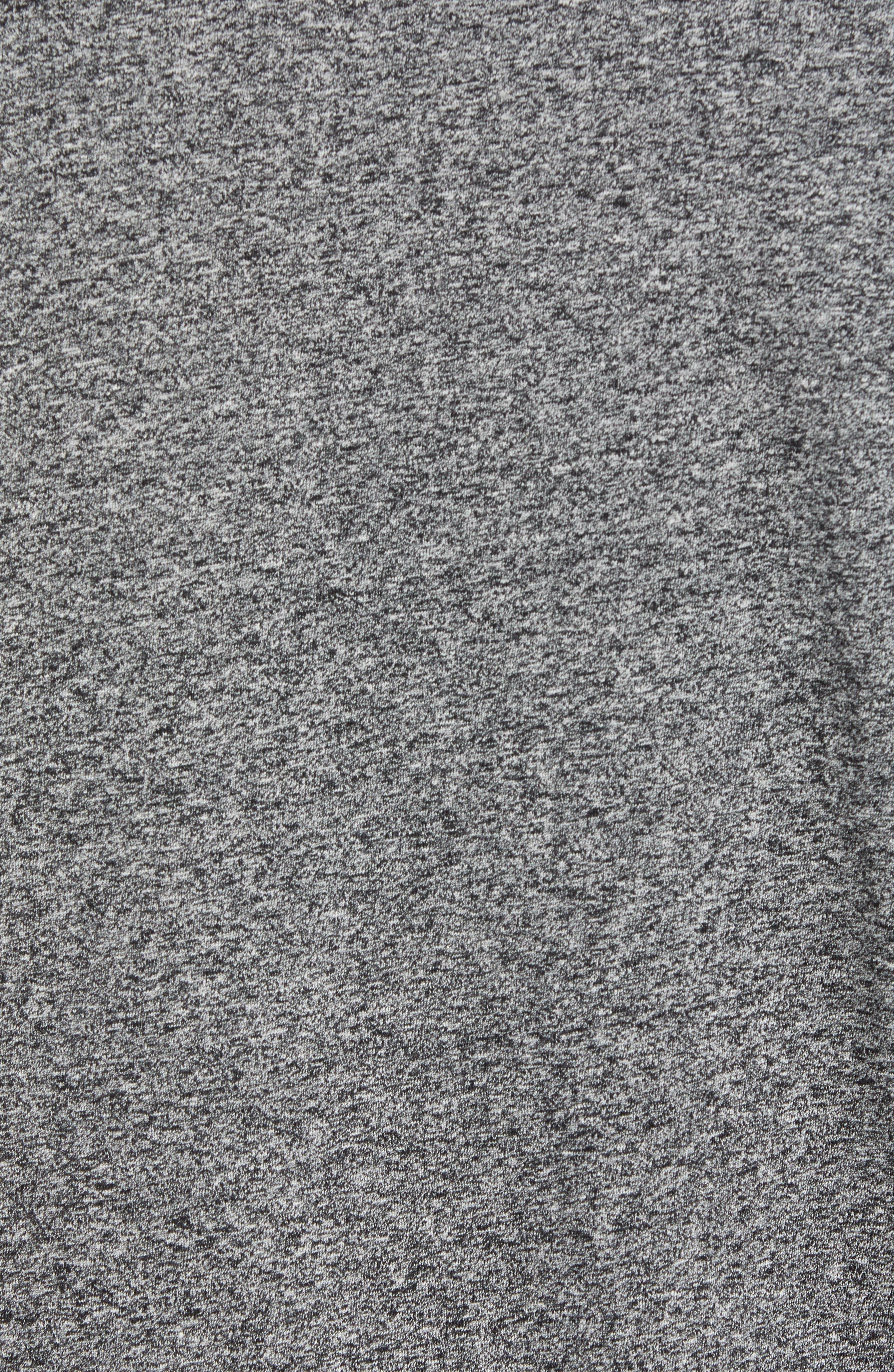 REIGNING CHAMP,                             Short Sleeve Crewneck T-Shirt,                             Alternate thumbnail 5, color,                             MEDIUM BLACK