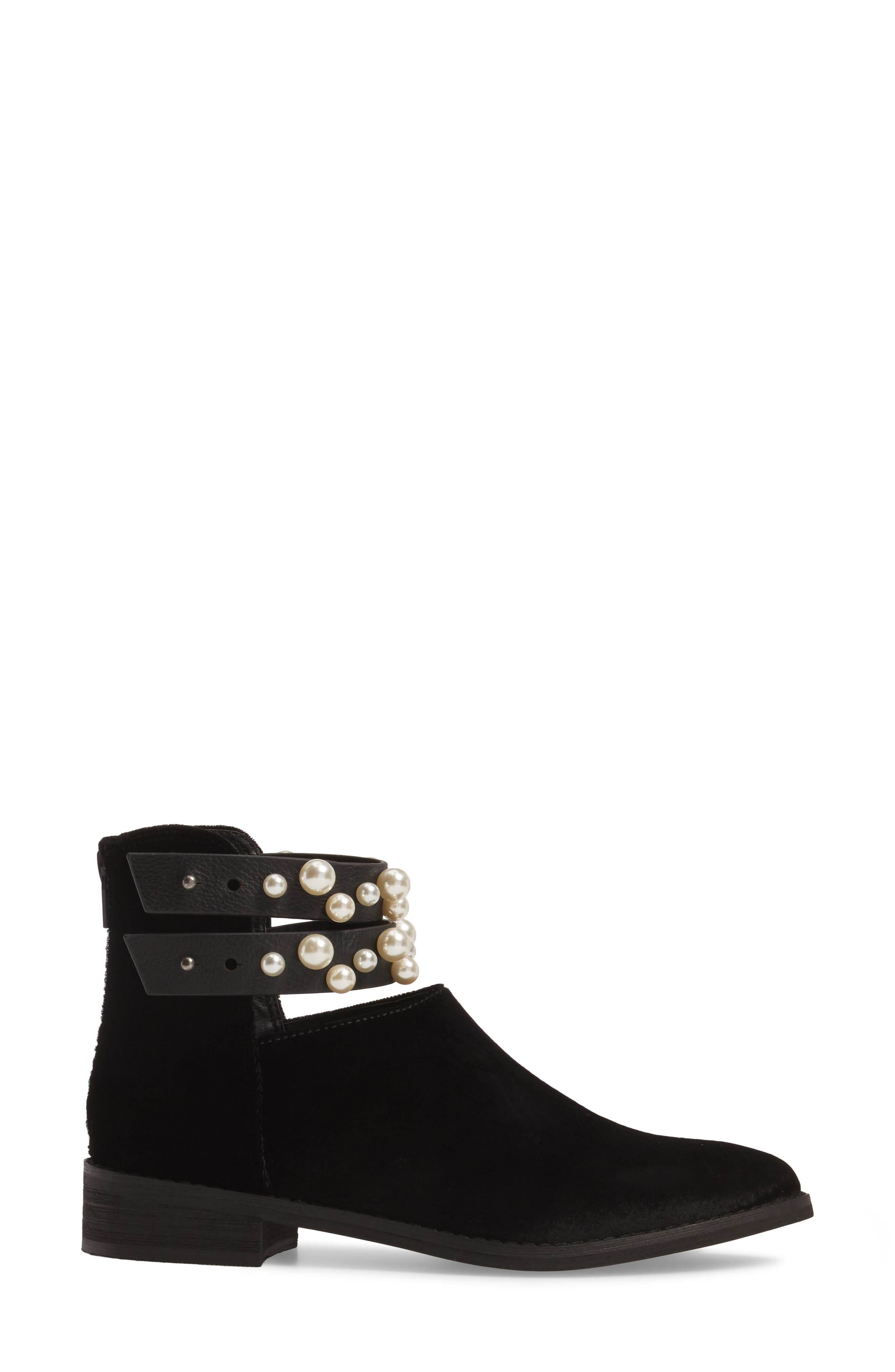 Maisie Embellished Bootie,                             Alternate thumbnail 3, color,                             001