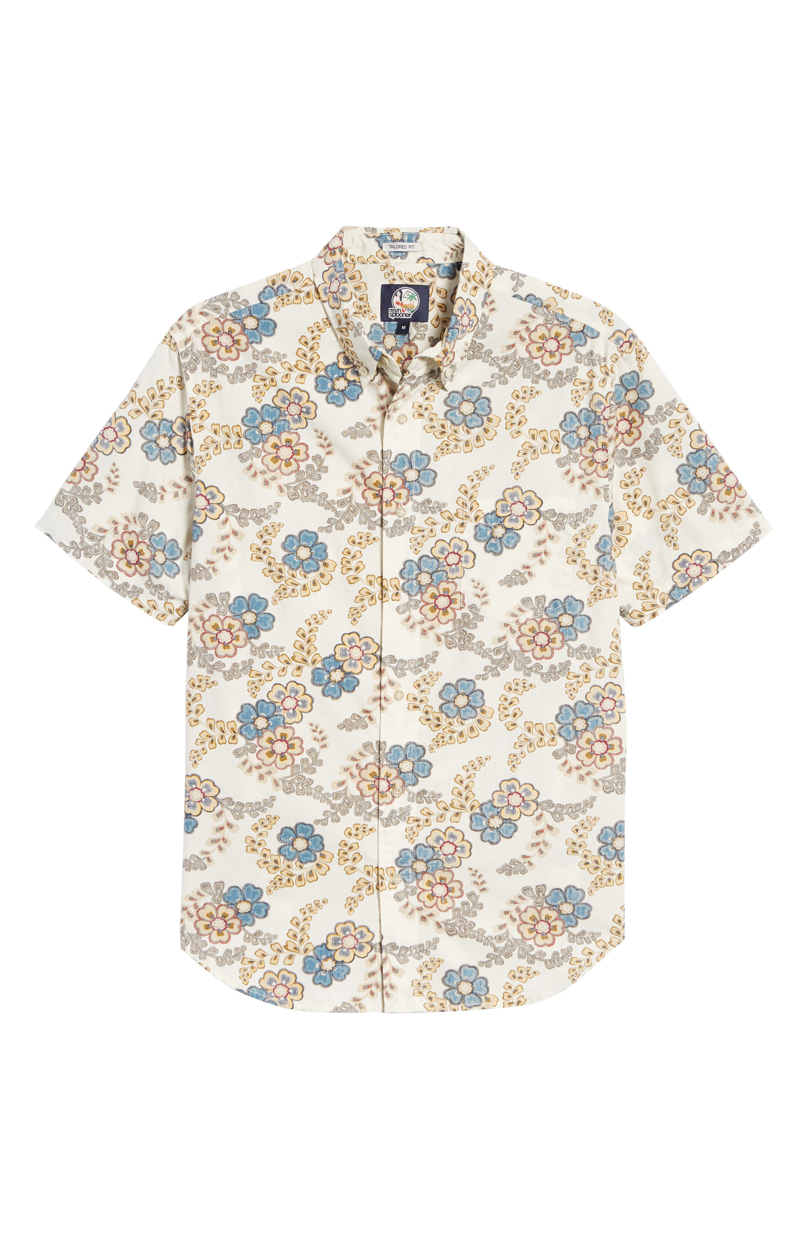 Regular Fit Furoshiki Floral Sport Shirt,                             Alternate thumbnail 5, color,                             NATURAL