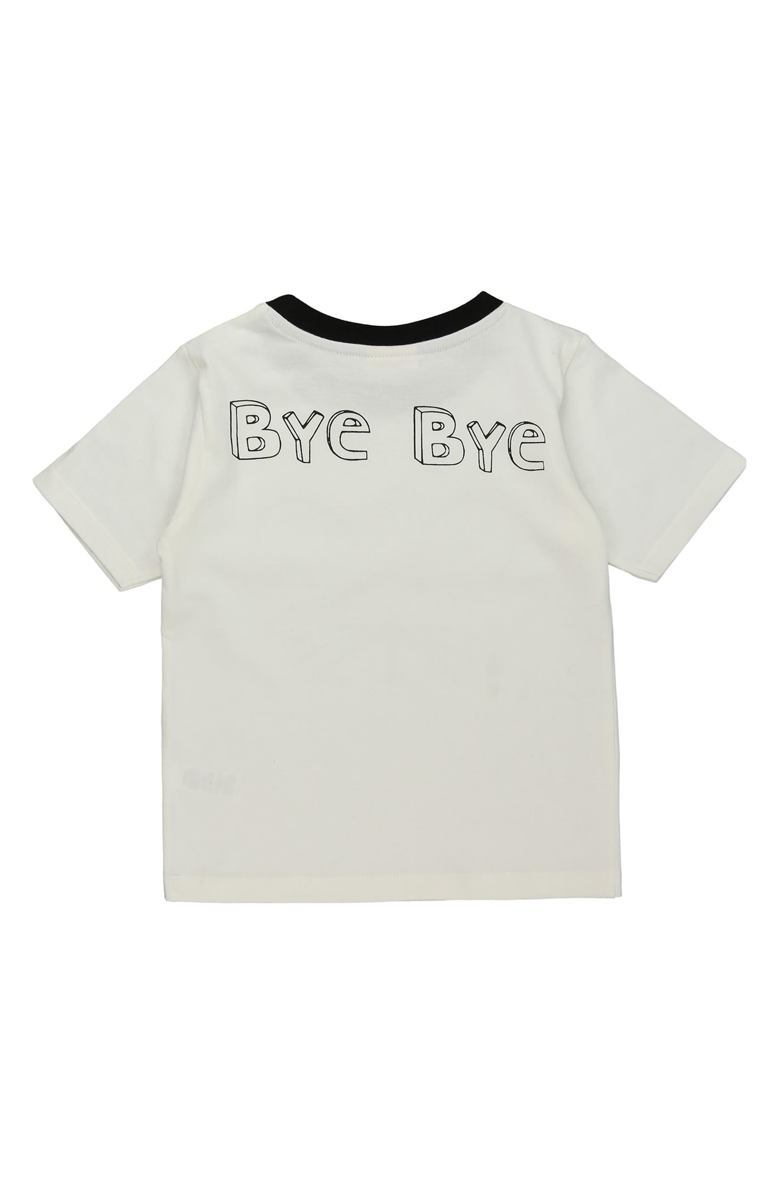 Goodbye Mousey Organic Cotton T-Shirt,                             Alternate thumbnail 2, color,                             100
