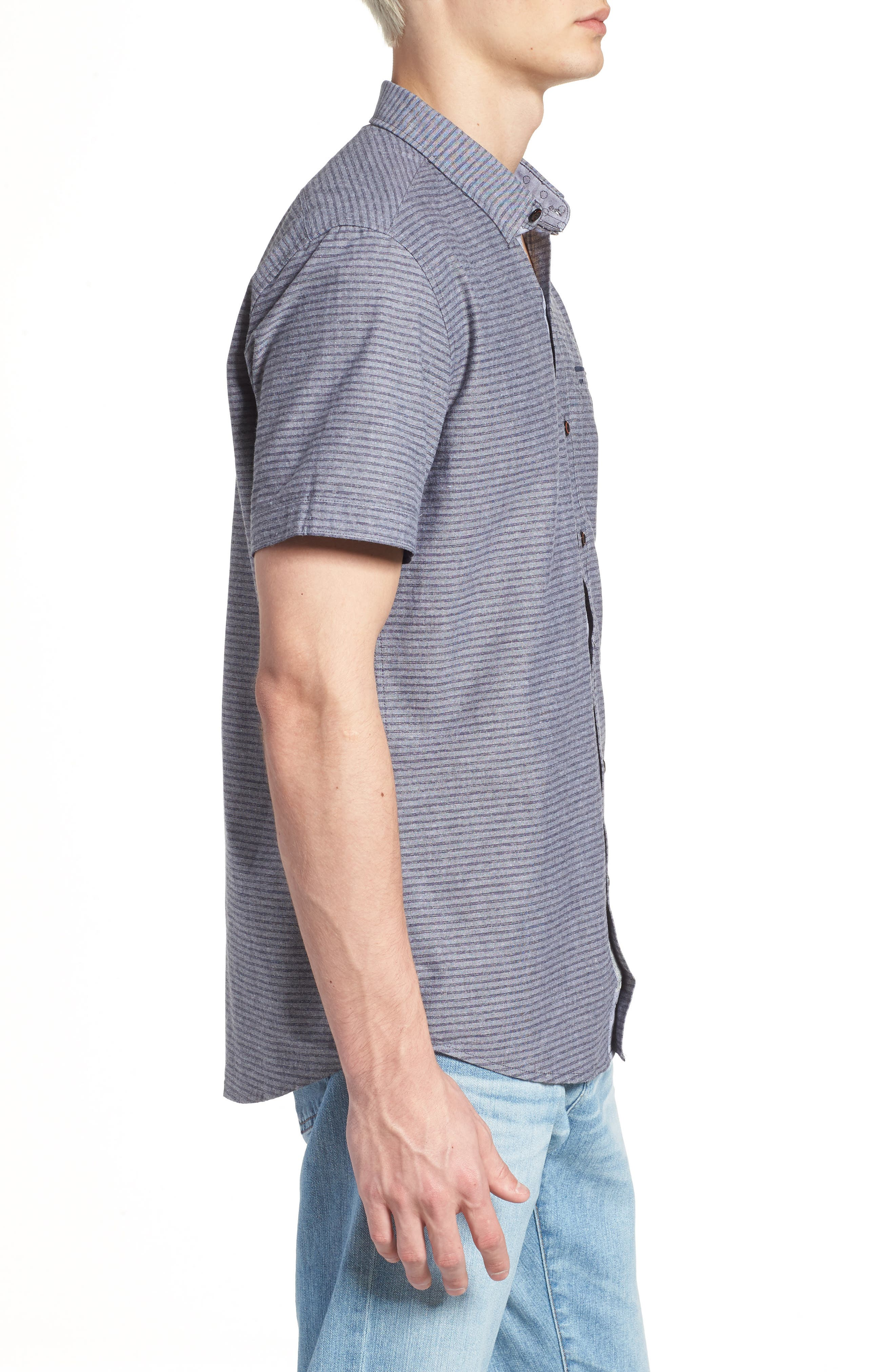 The Crunch Slim Fit Short Sleeve Sport Shirt,                             Alternate thumbnail 3, color,                             060