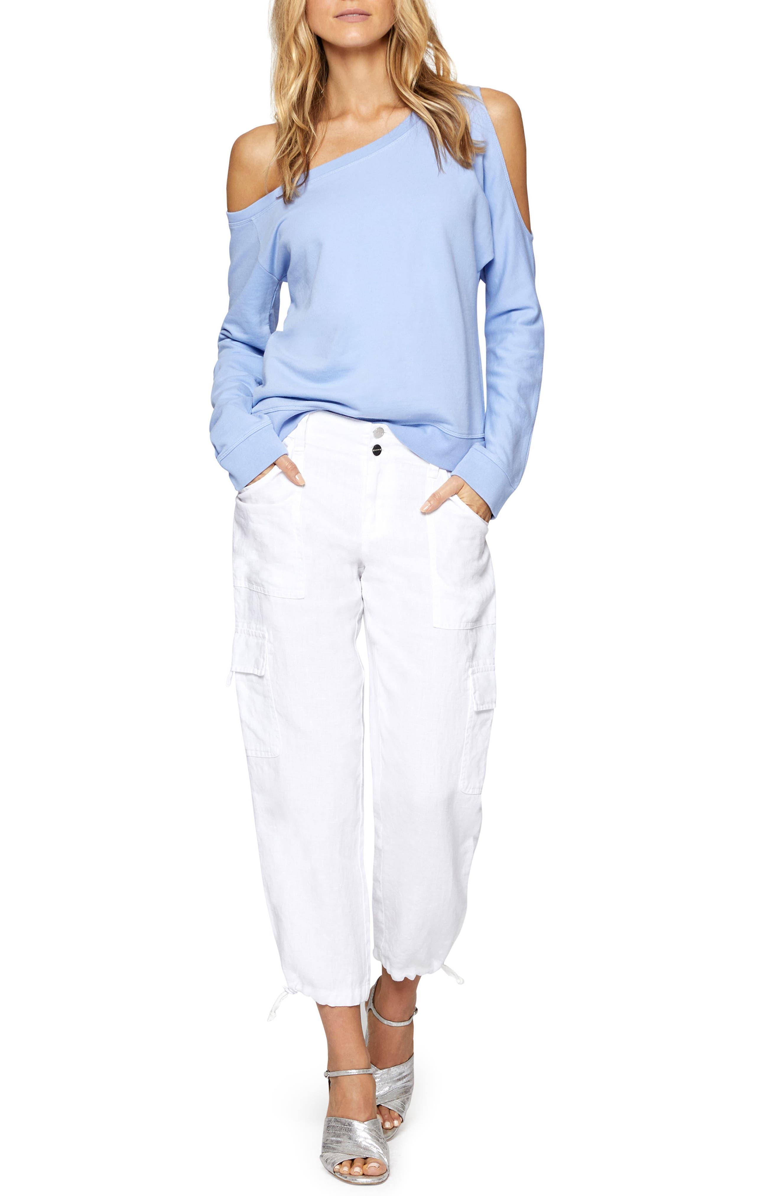 Alexi Asymmetrical Sweatshirt,                             Alternate thumbnail 3, color,                             450
