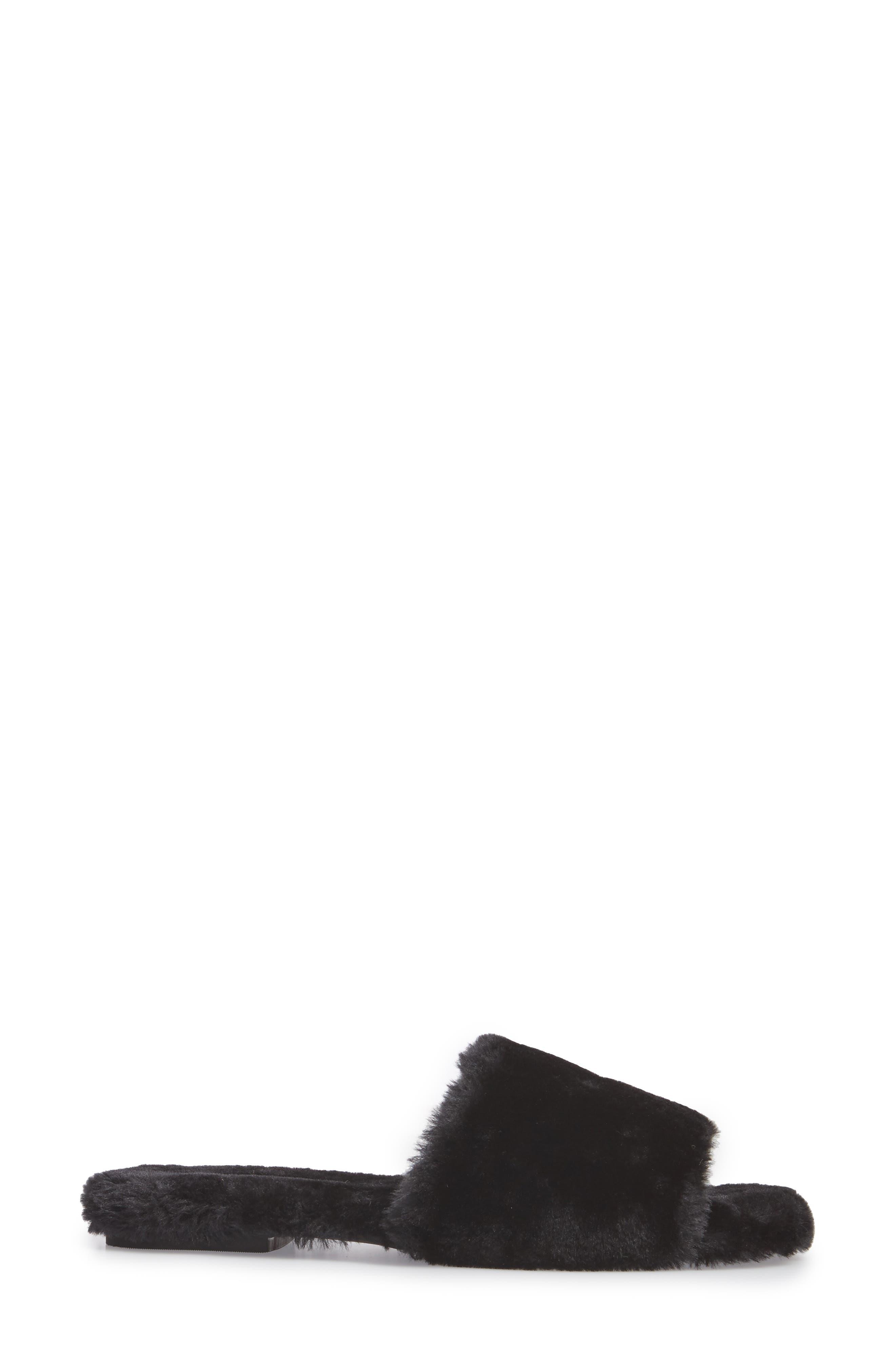 Motel-F Faux Fur Slide Sandal,                             Alternate thumbnail 7, color,