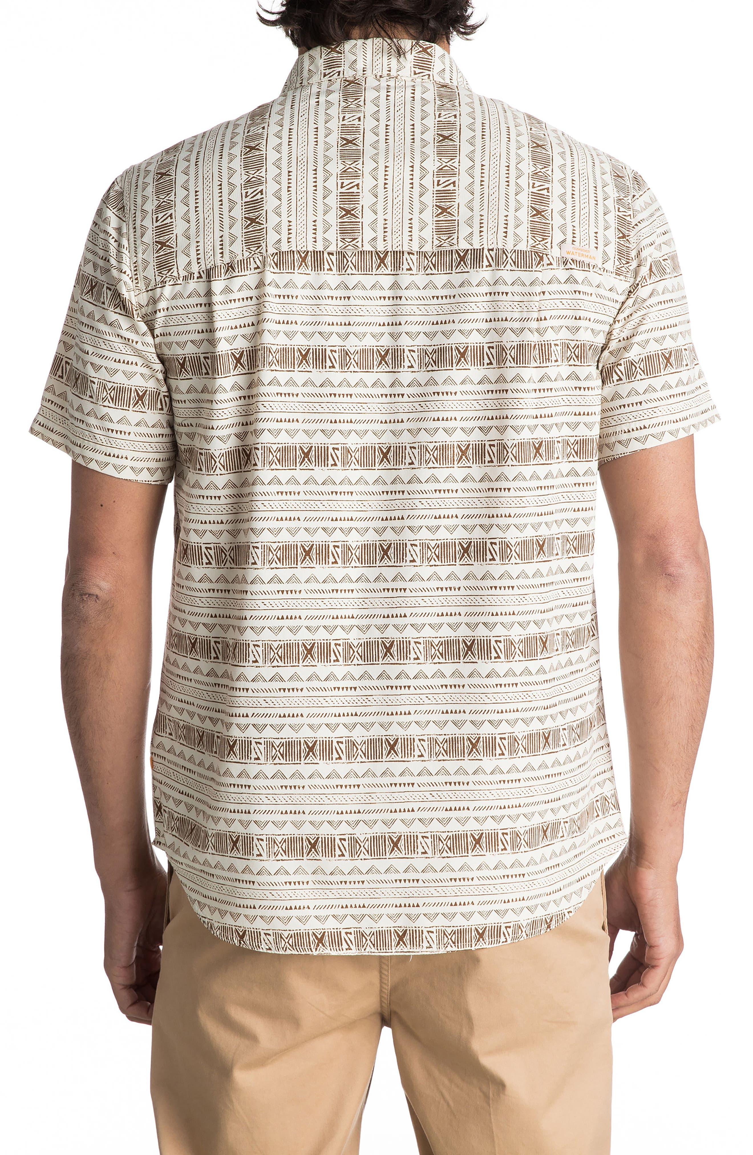 Wake Koro Geo Print Woven Shirt,                             Alternate thumbnail 4, color,