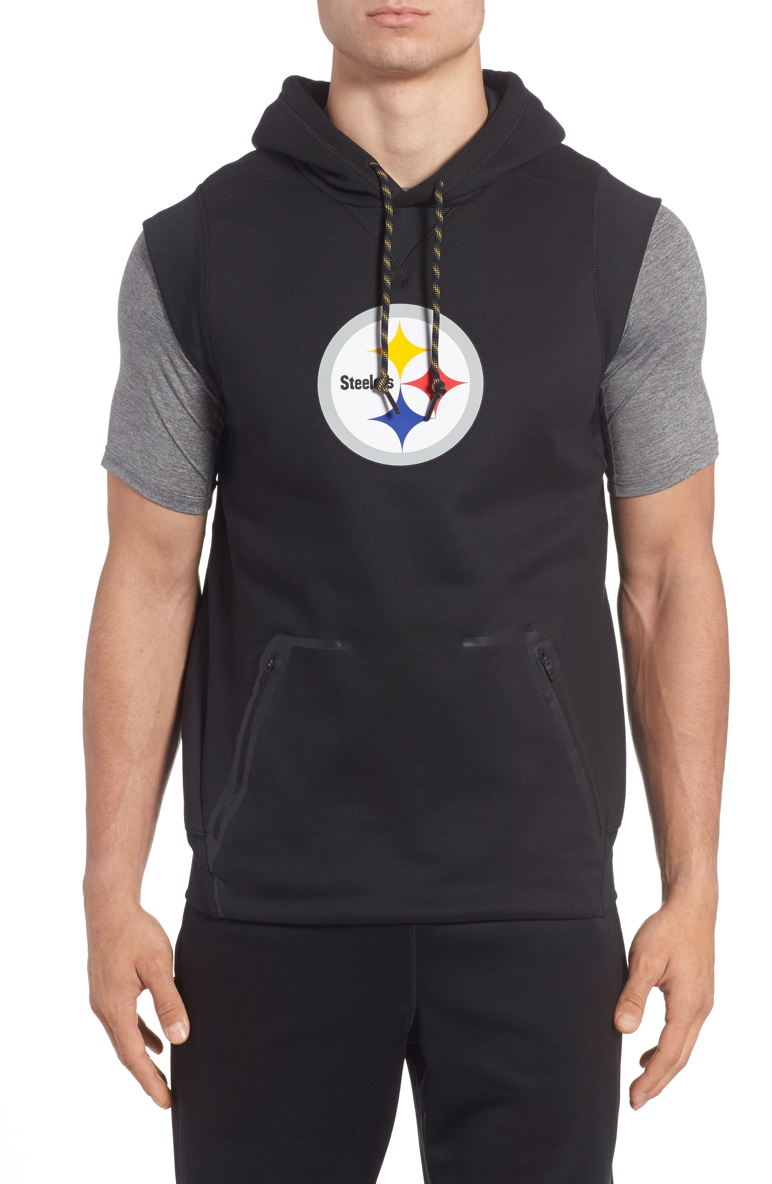 Therma-FIT NFL Graphic Sleeveless Hoodie, Main, color, 011