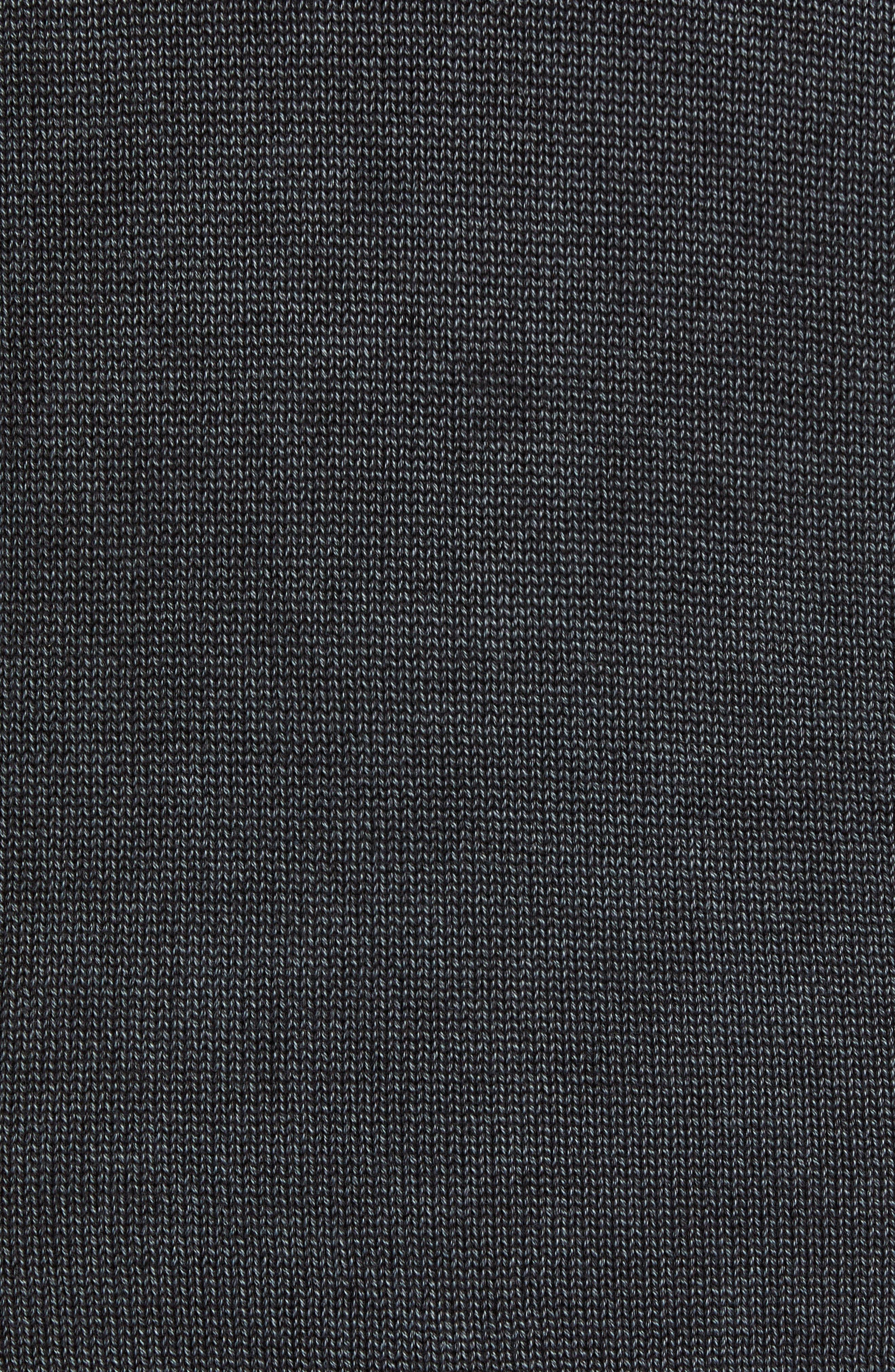 Washed Crewneck Sweater,                             Alternate thumbnail 5, color,                             BLACK ROCK