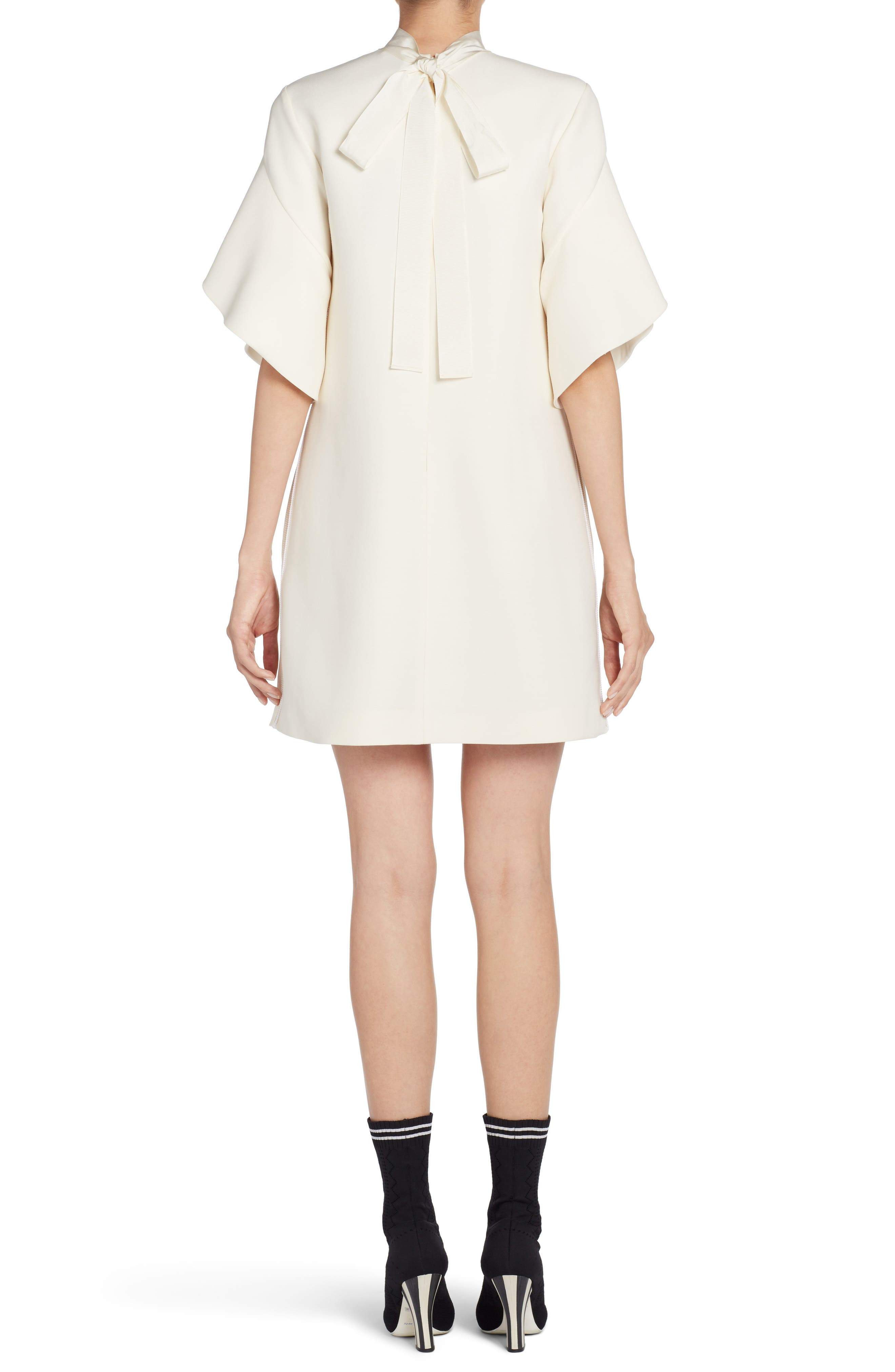 Wool & Silk Gazar Shift Dress,                             Alternate thumbnail 2, color,