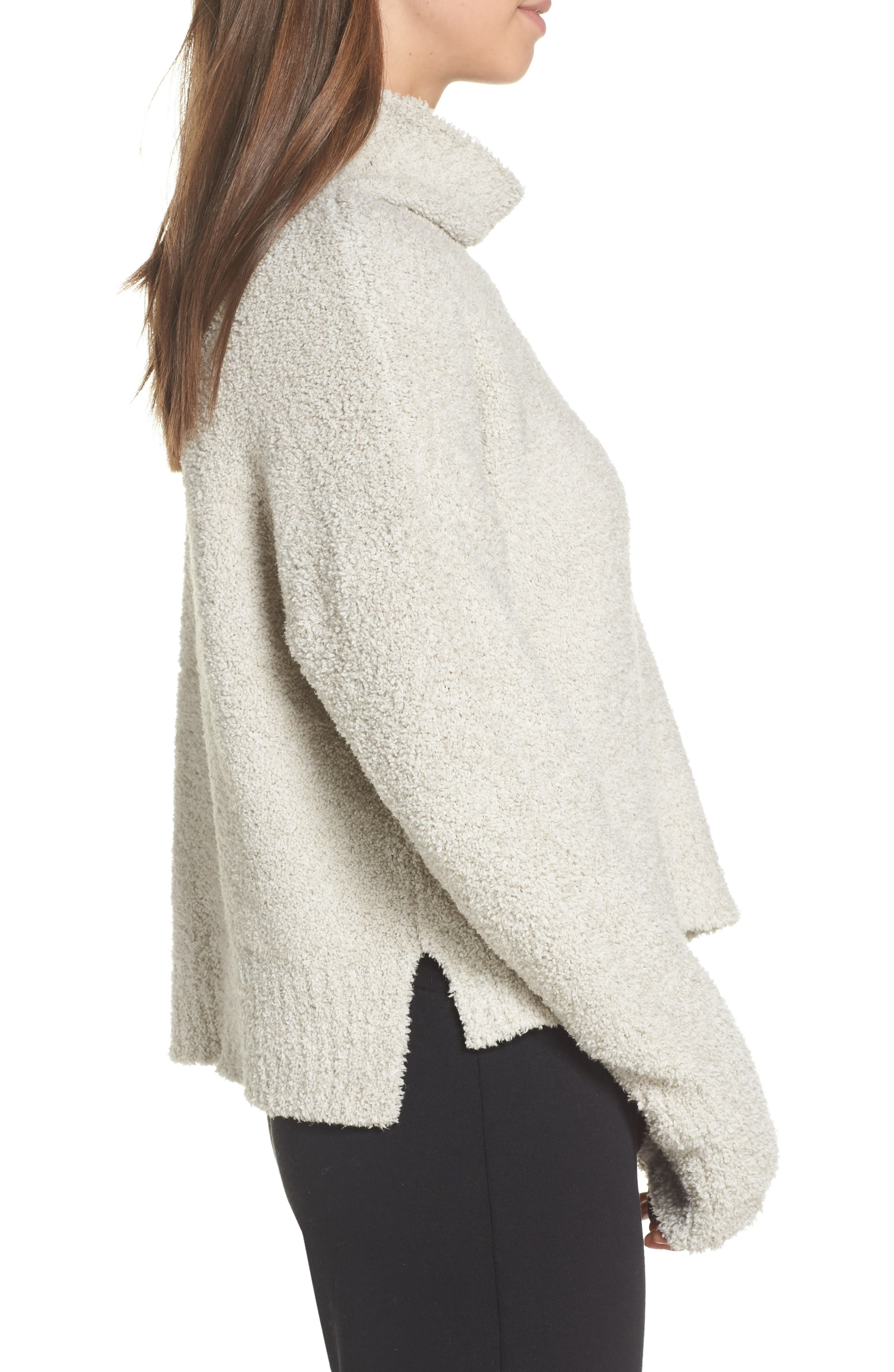 Sage Cowl Neck Pullover,                             Alternate thumbnail 3, color,                             DRIFTWOOD