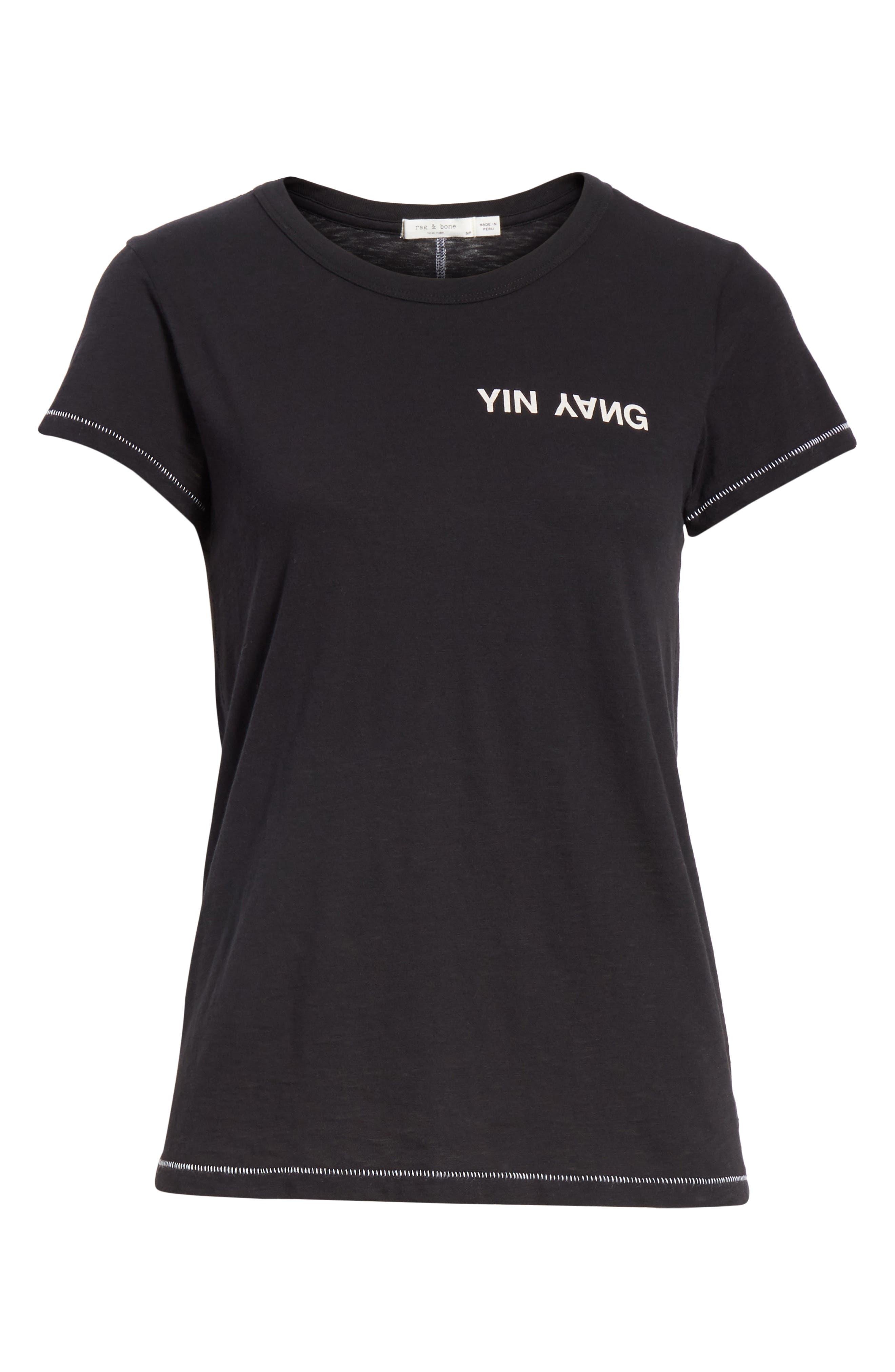 JEAN Yin Yang Tee,                             Alternate thumbnail 6, color,                             001
