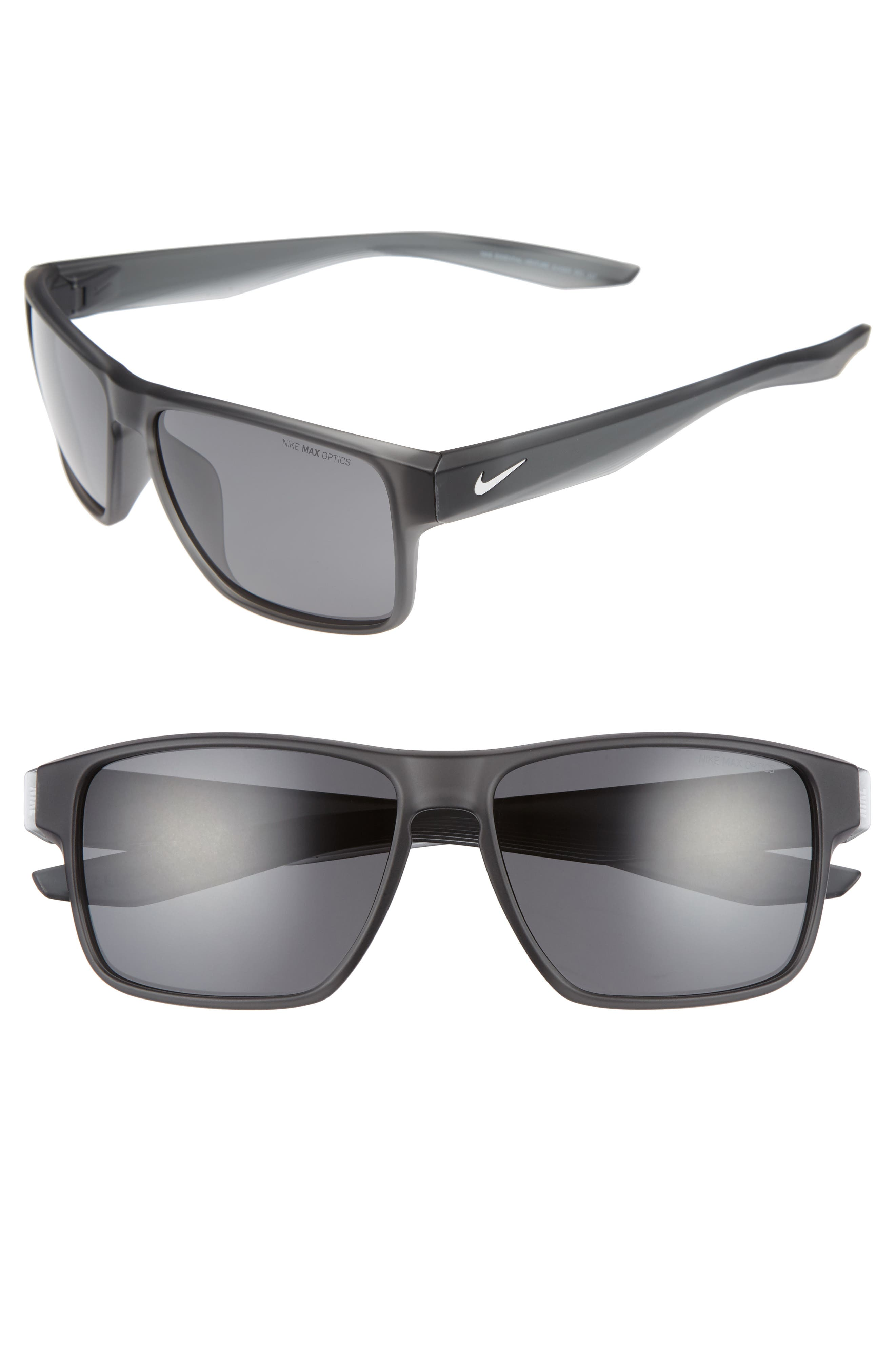 Essential Venture 59mm Sunglasses,                         Main,                         color, MATTE ANTHRACITE