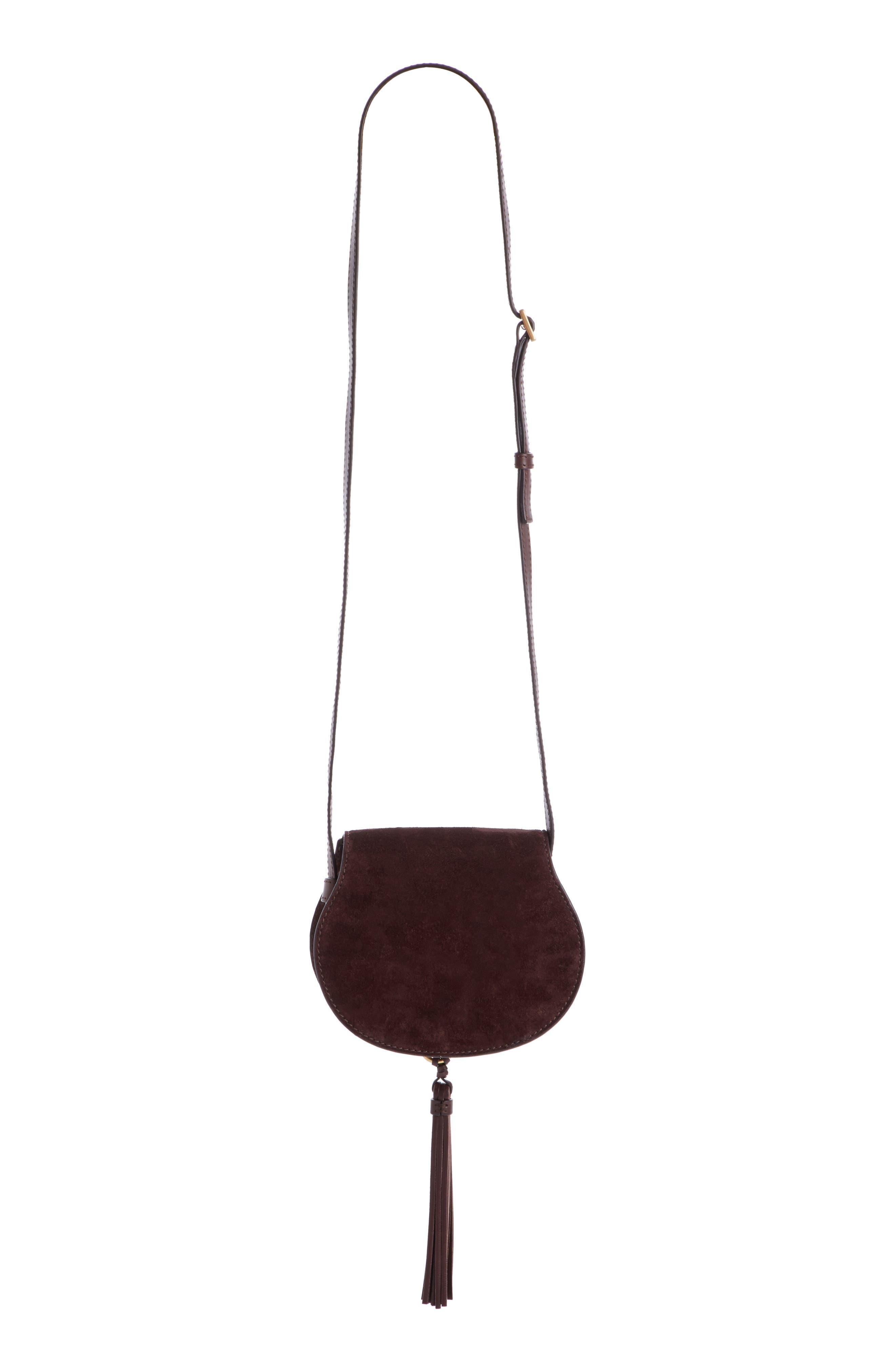'Mini Marcie' Suede Saddle Bag,                             Alternate thumbnail 2, color,                             209