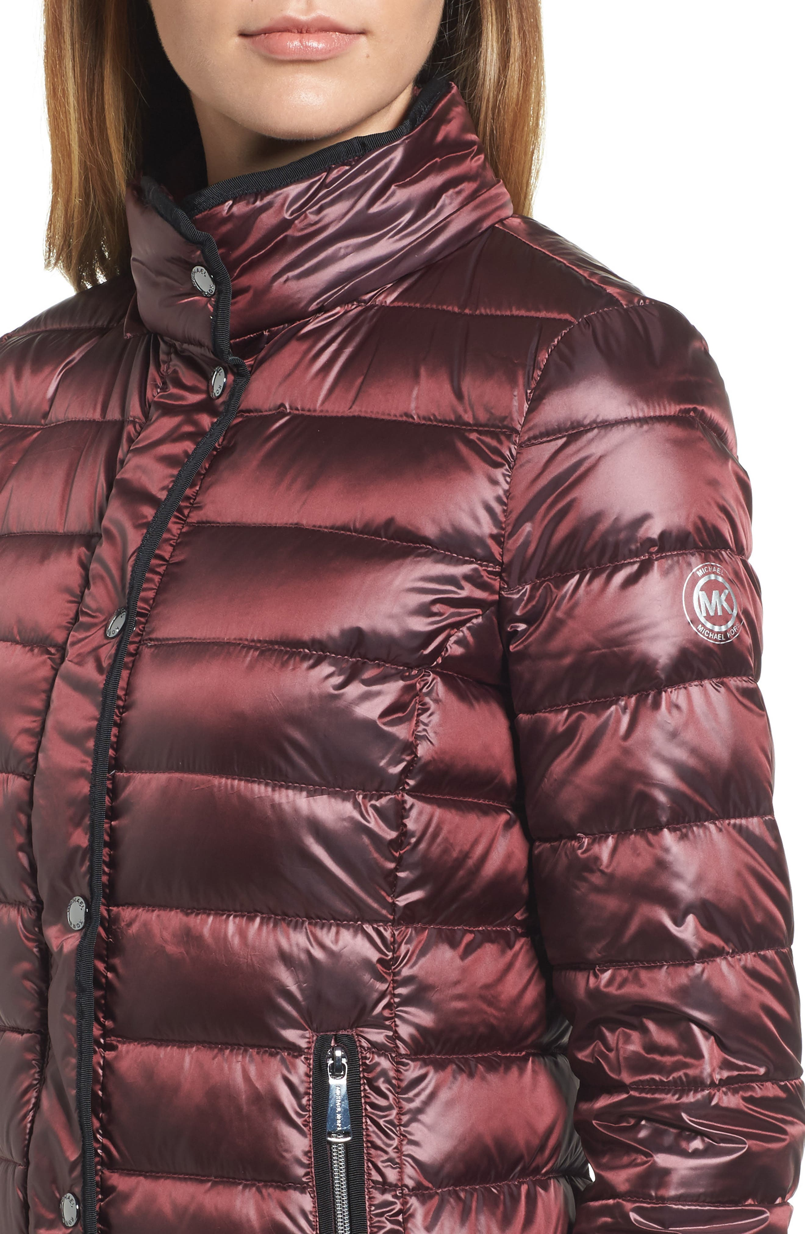 Packable Insulated Jacket with Removable Hood,                             Alternate thumbnail 16, color,