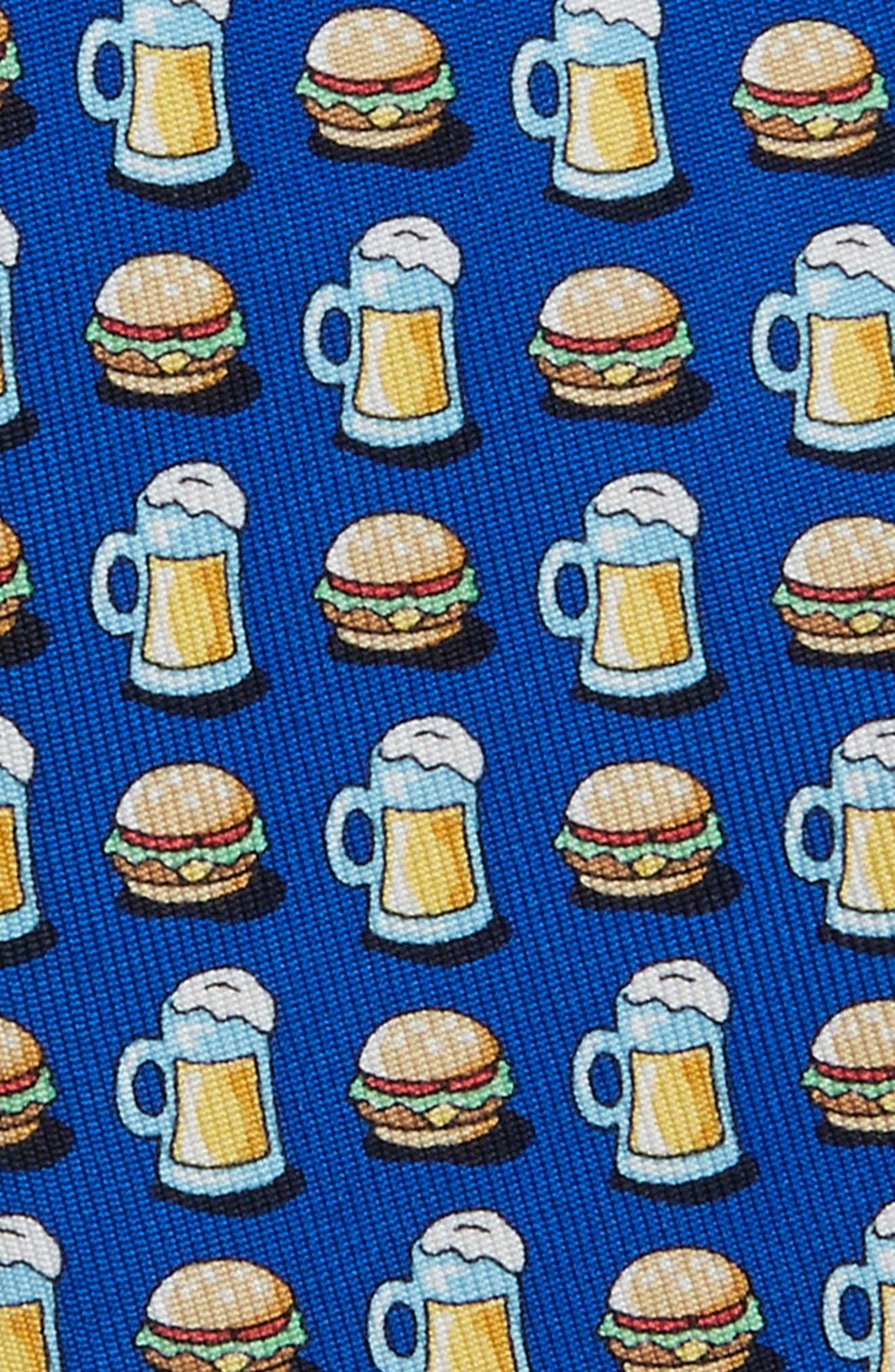 Burger & Beer Silk Tie,                             Alternate thumbnail 2, color,                             420