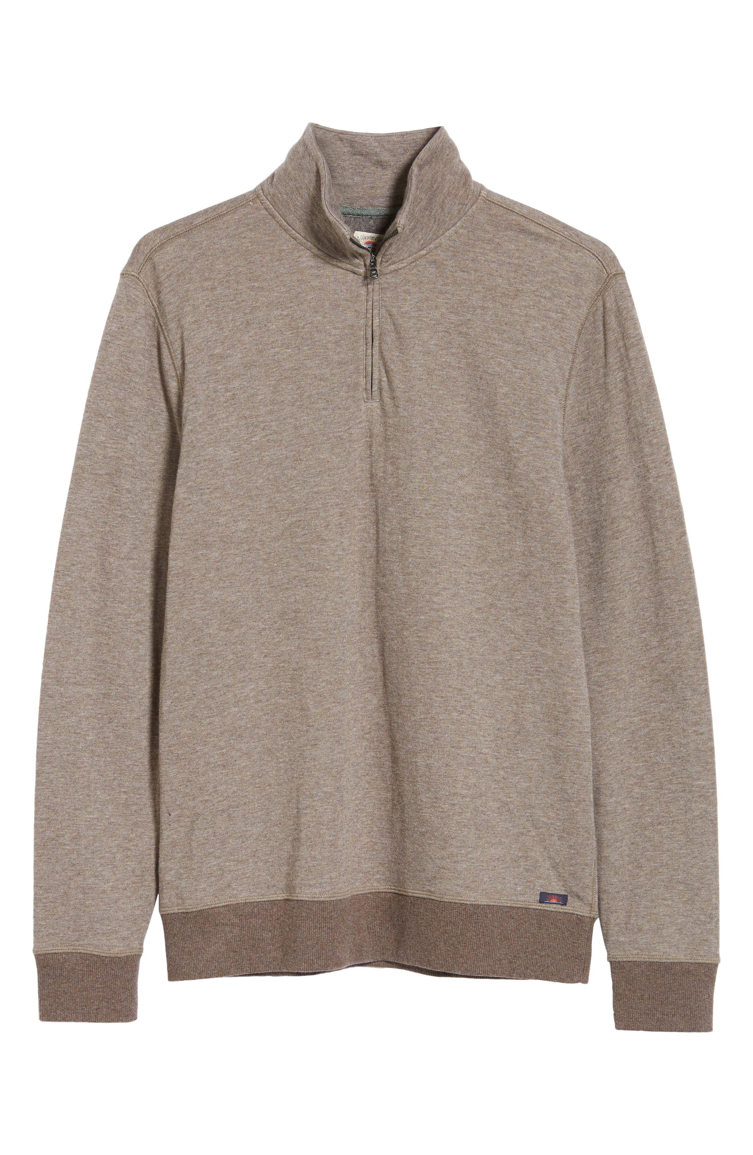 Dual Knit Regular Fit Quarter Zip Pullover,                             Alternate thumbnail 6, color,                             CHESTNUT