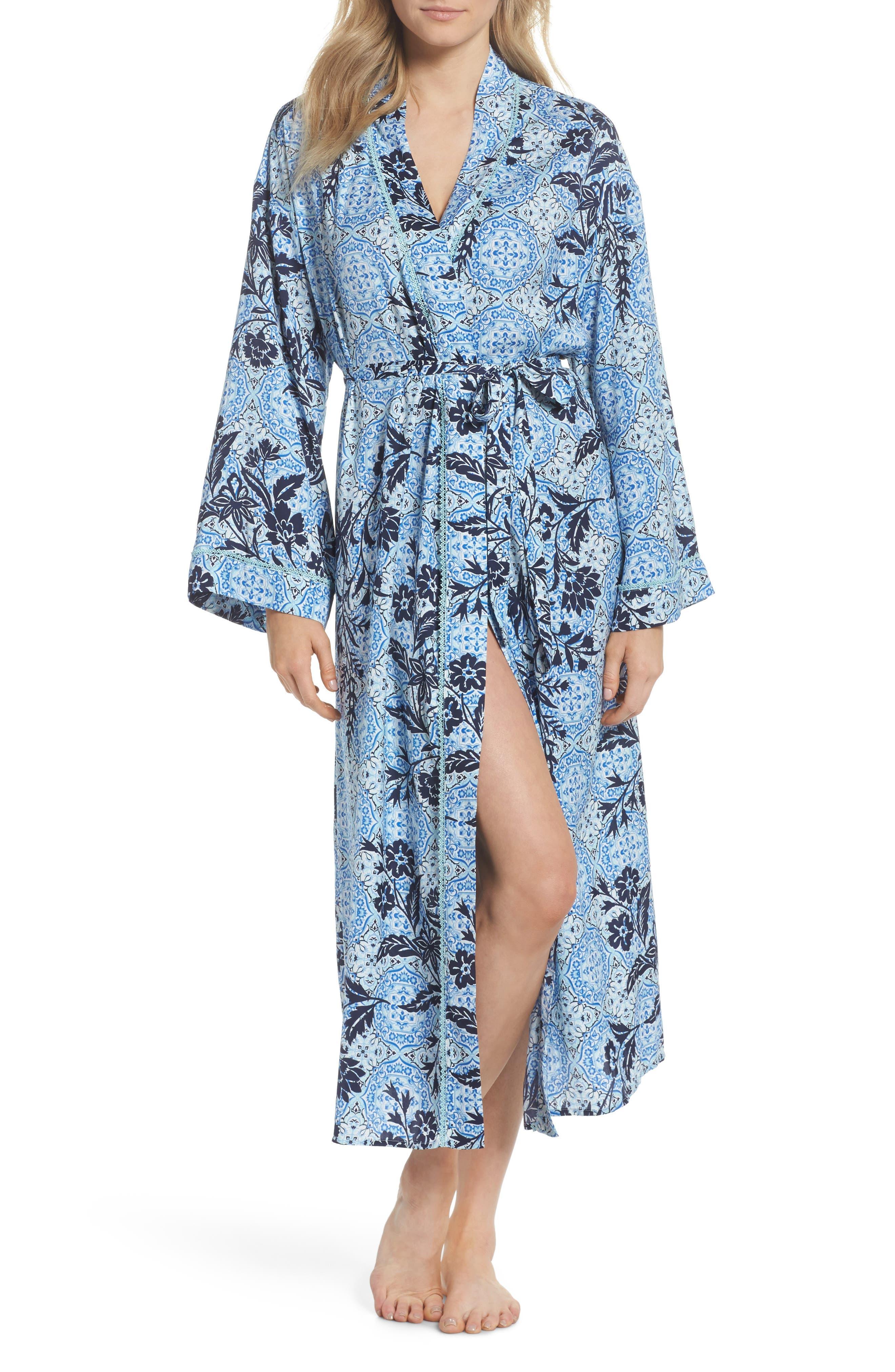 Sweet Dreams Satin Robe,                         Main,                         color, 420