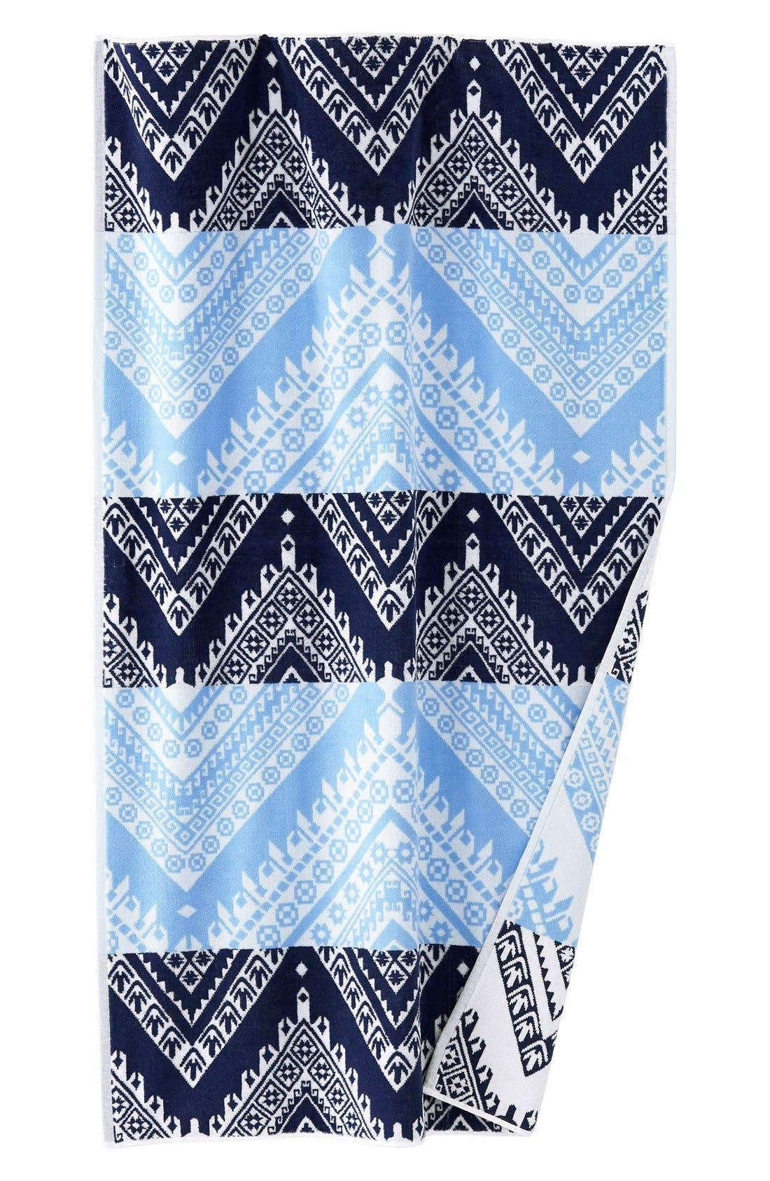 'Koh' Chevron Wave Pattern Beach Towel,                             Alternate thumbnail 2, color,                             400
