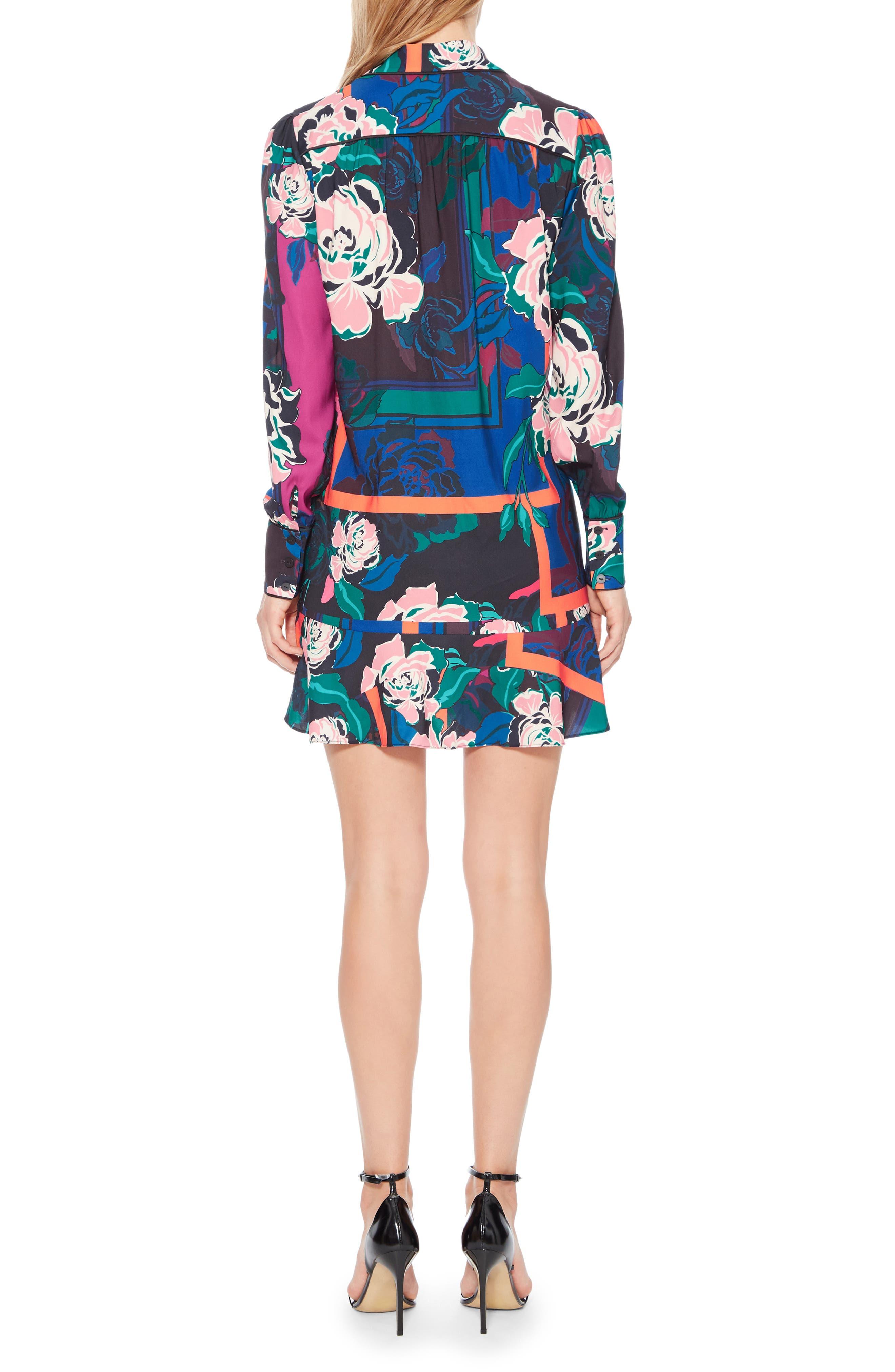 Norma Floral Print Shirtdress,                             Alternate thumbnail 2, color,                             IRVING ROSE