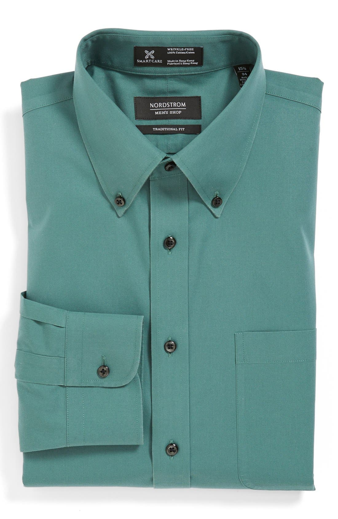 Smartcare<sup>™</sup> Traditional Fit Pinpoint Dress Shirt,                             Main thumbnail 12, color,