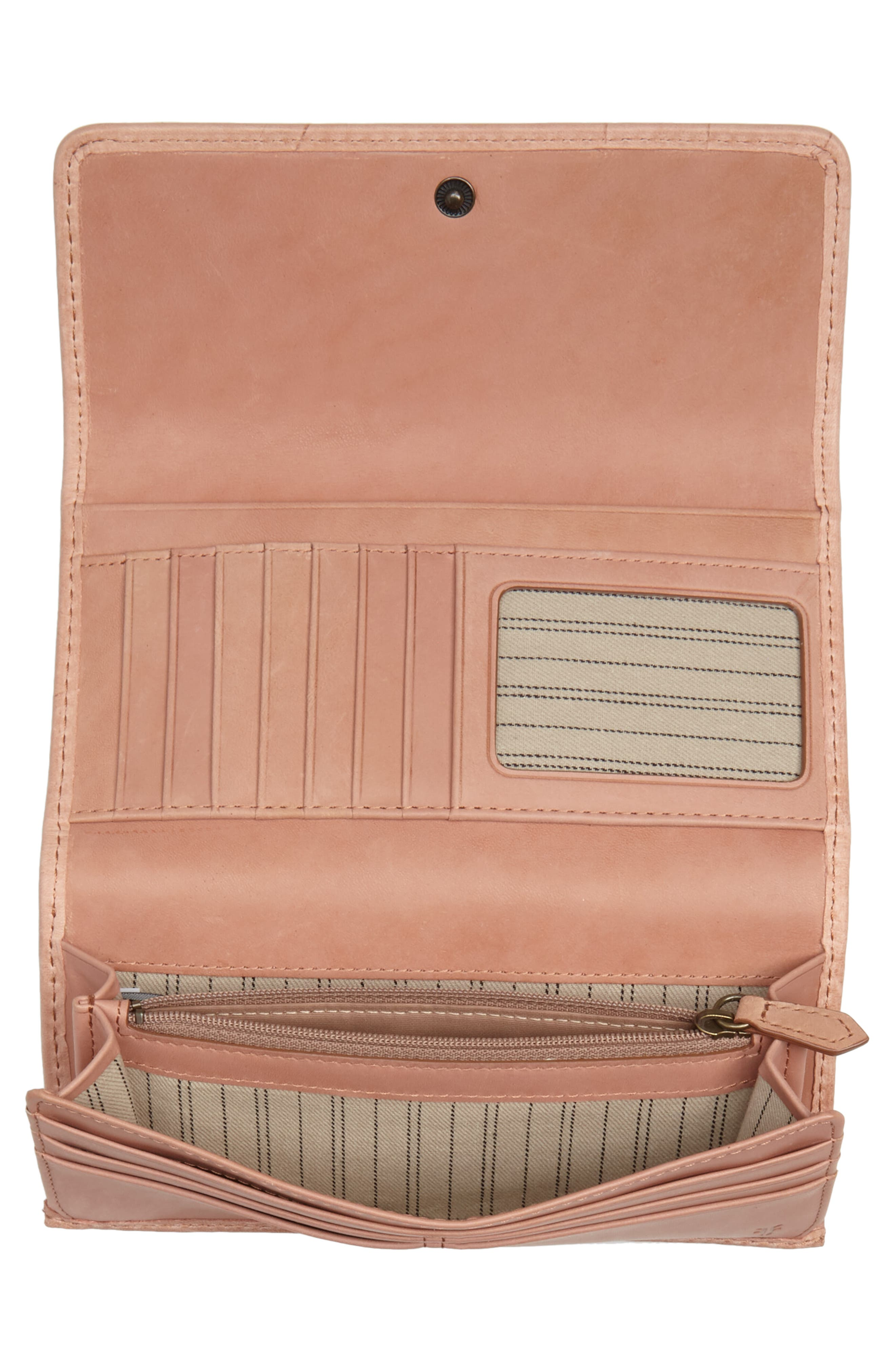 'Melissa' Continental Wallet,                             Alternate thumbnail 4, color,                             DUSTY ROSE